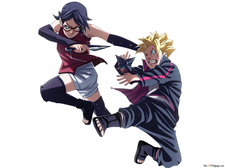 Boruto Naruto Next Generation Sarada Uchiha Vs Boruto Uzumaki Hd Wallpaper Download