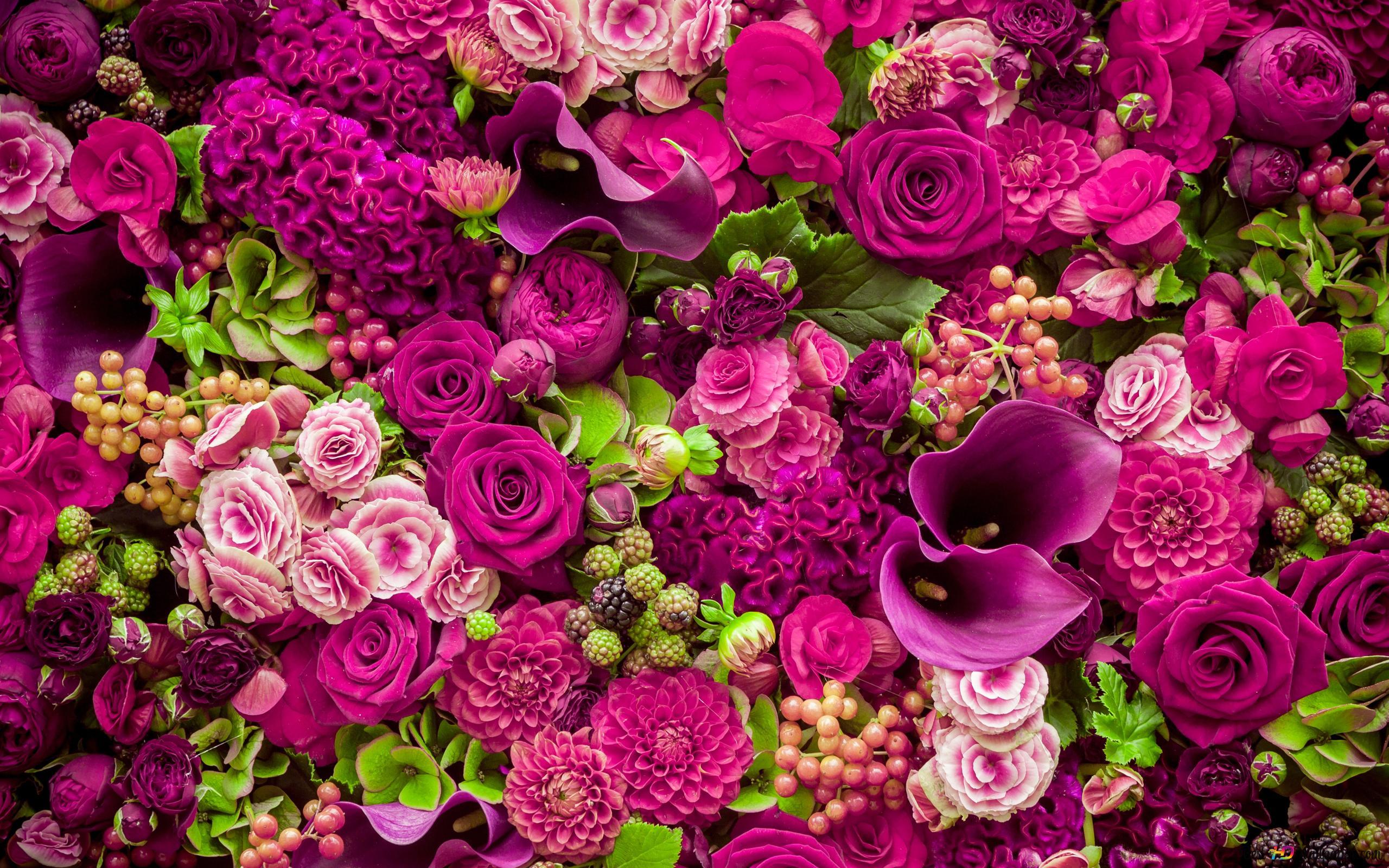 Bouquet De Fleurs Roses Belle Hd Fond D Ecran Telecharger