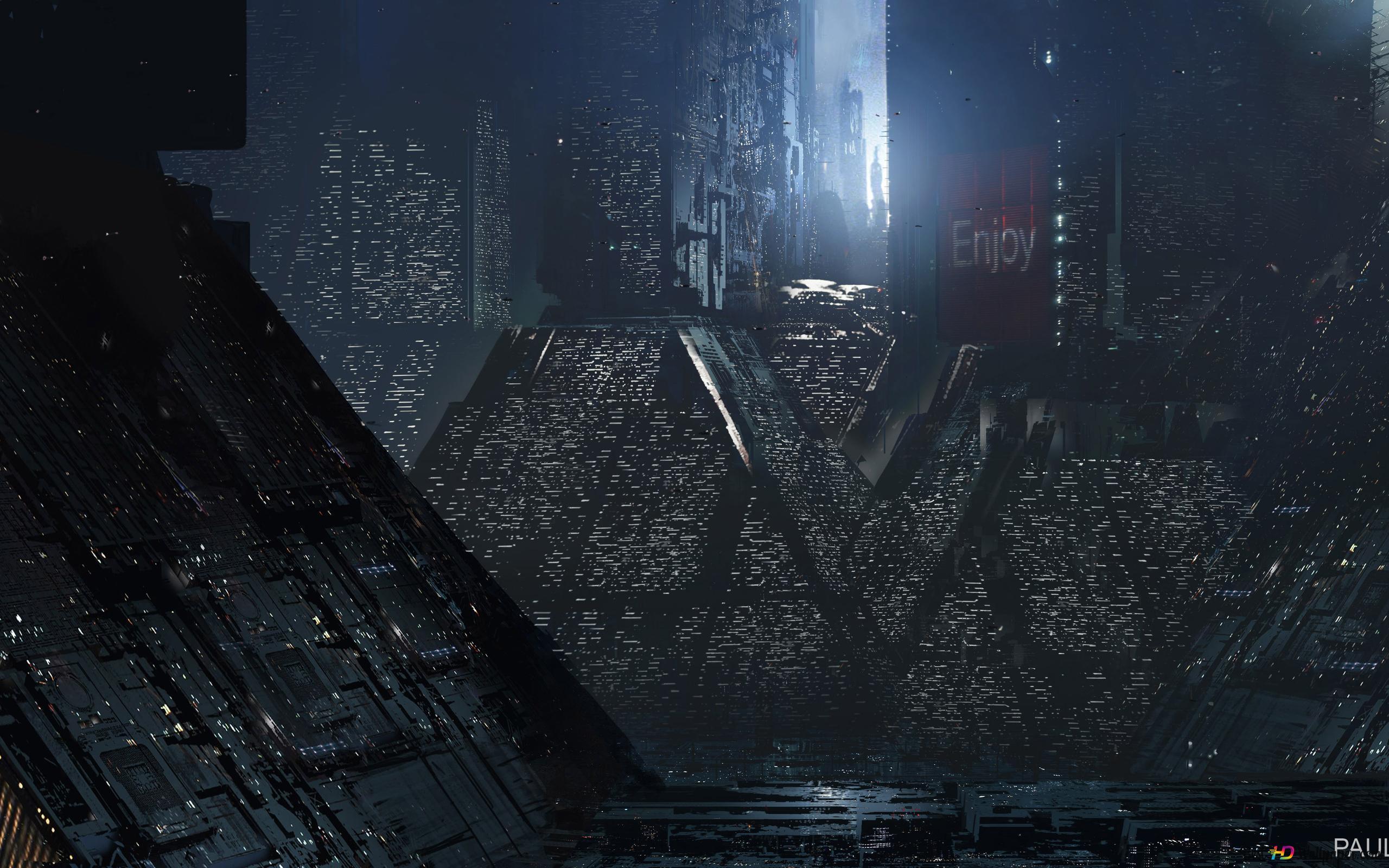 ブレードランナー2049年の未来都市 Hd壁紙のダウンロード