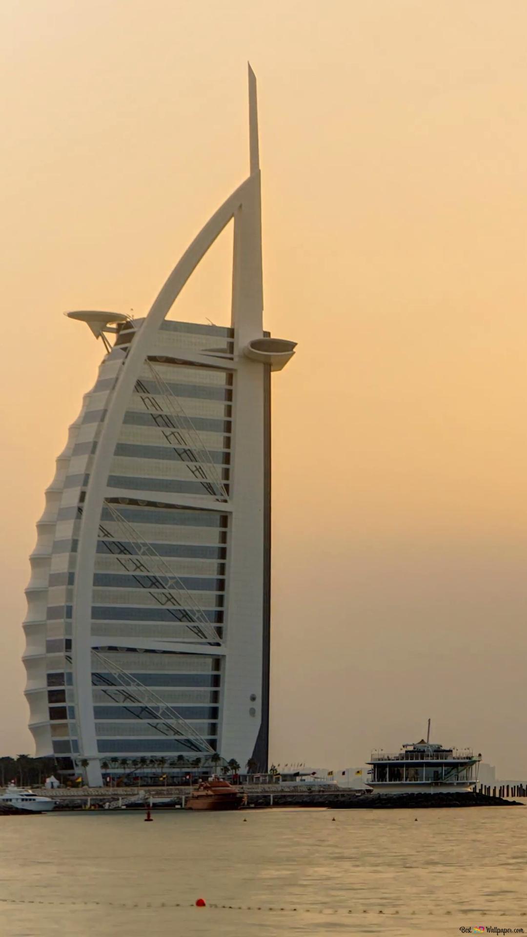 Burj Al Arab W Dubaju Zjednoczone Emiraty Arabskie Na