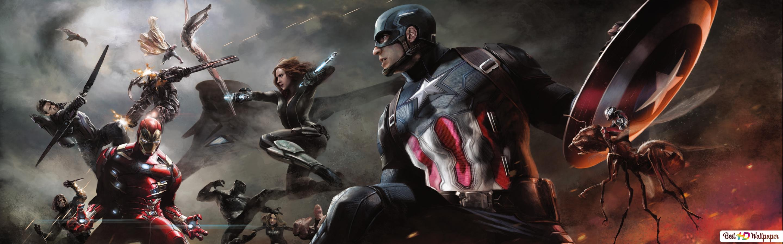 Descargar Fondo De Pantalla Capitan America Guerra Civil Heroes