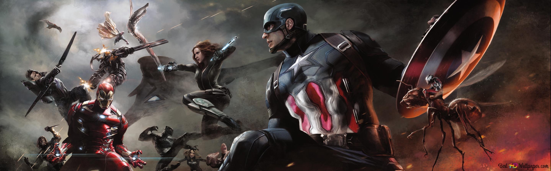 Captain America Civil War Heroes Battle Hd Wallpaper Download