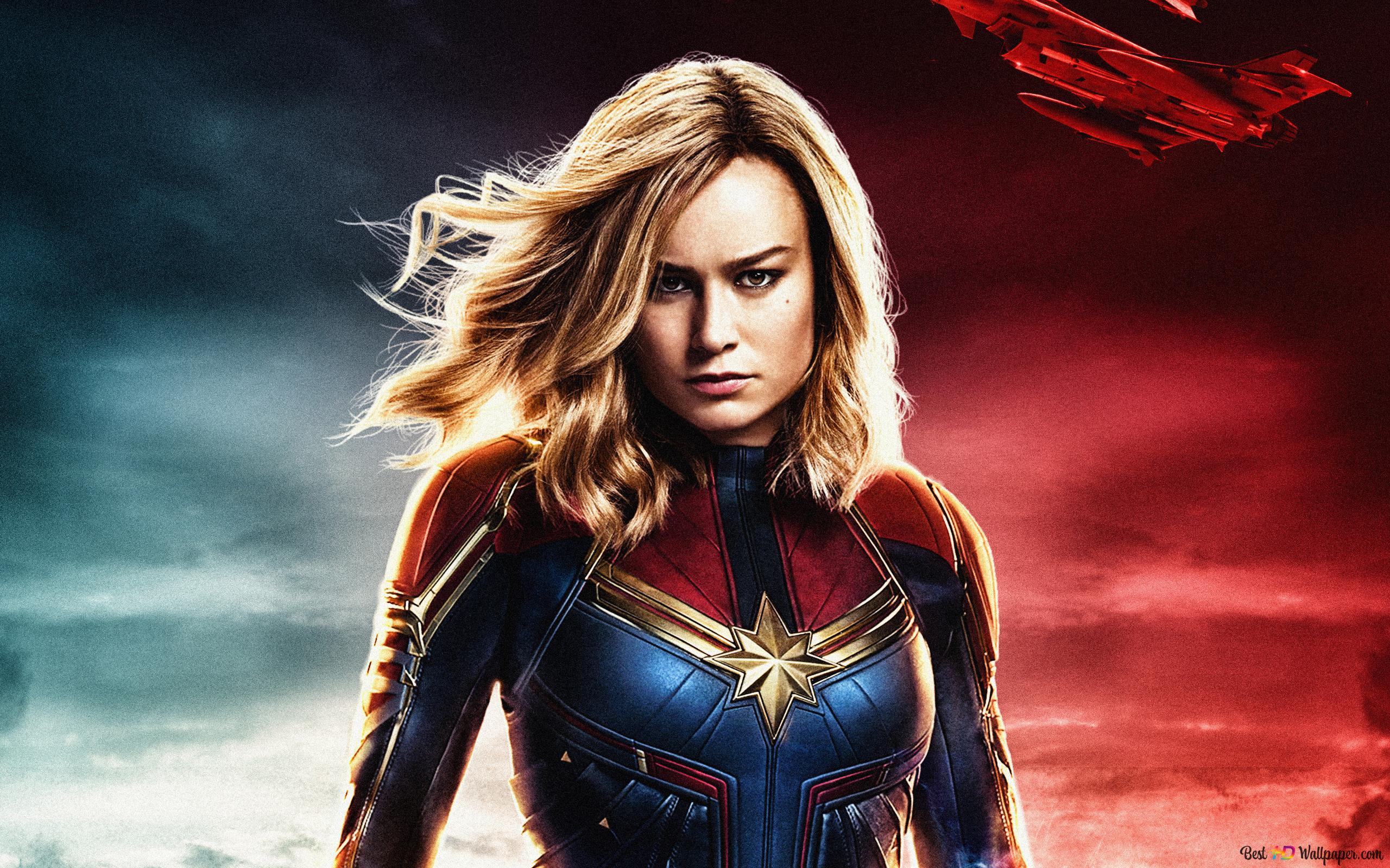 Captain Marvel Super Hero Hd Wallpaper Download