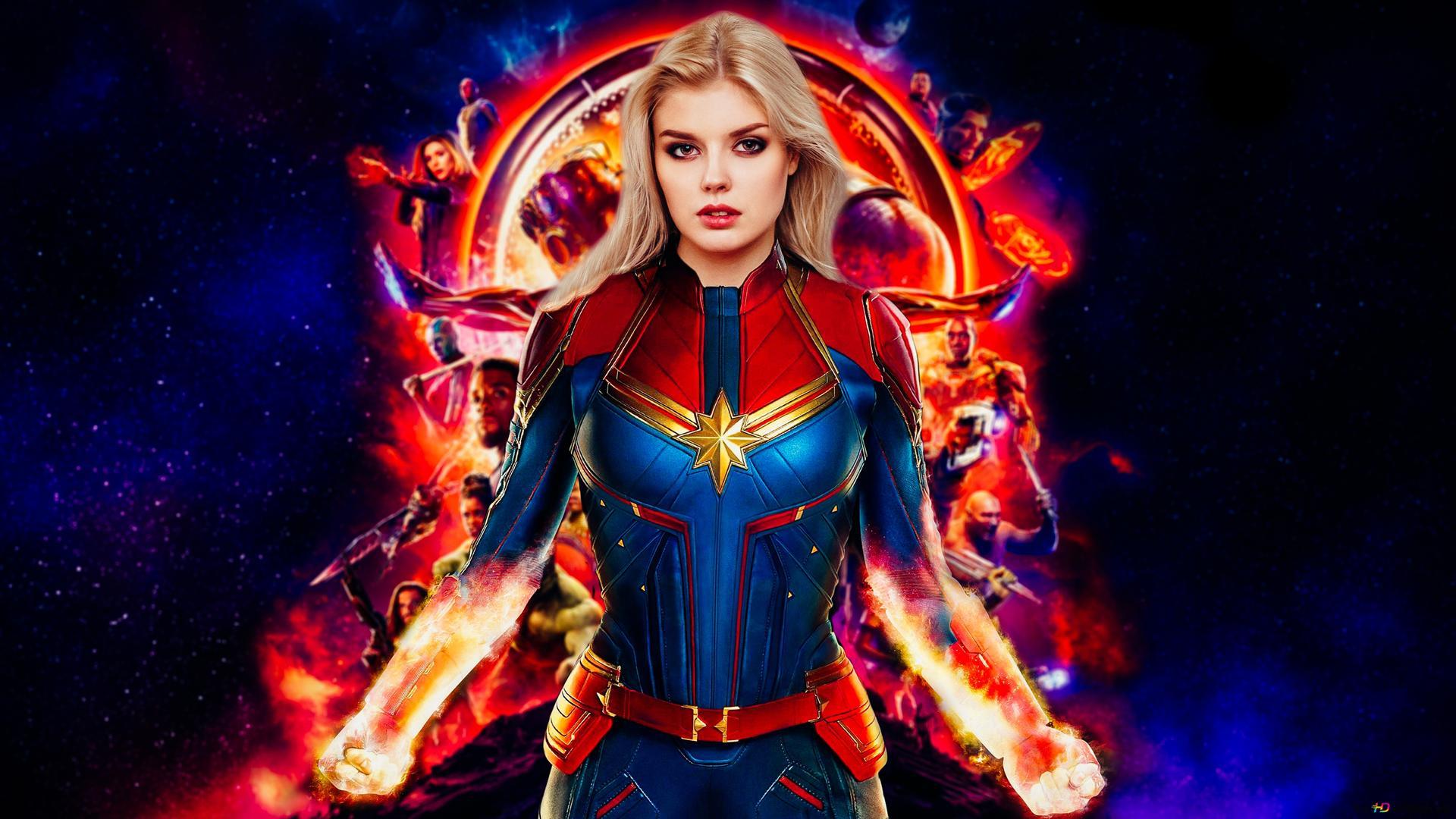 Captain Marvel Hd Wallpaper Download
