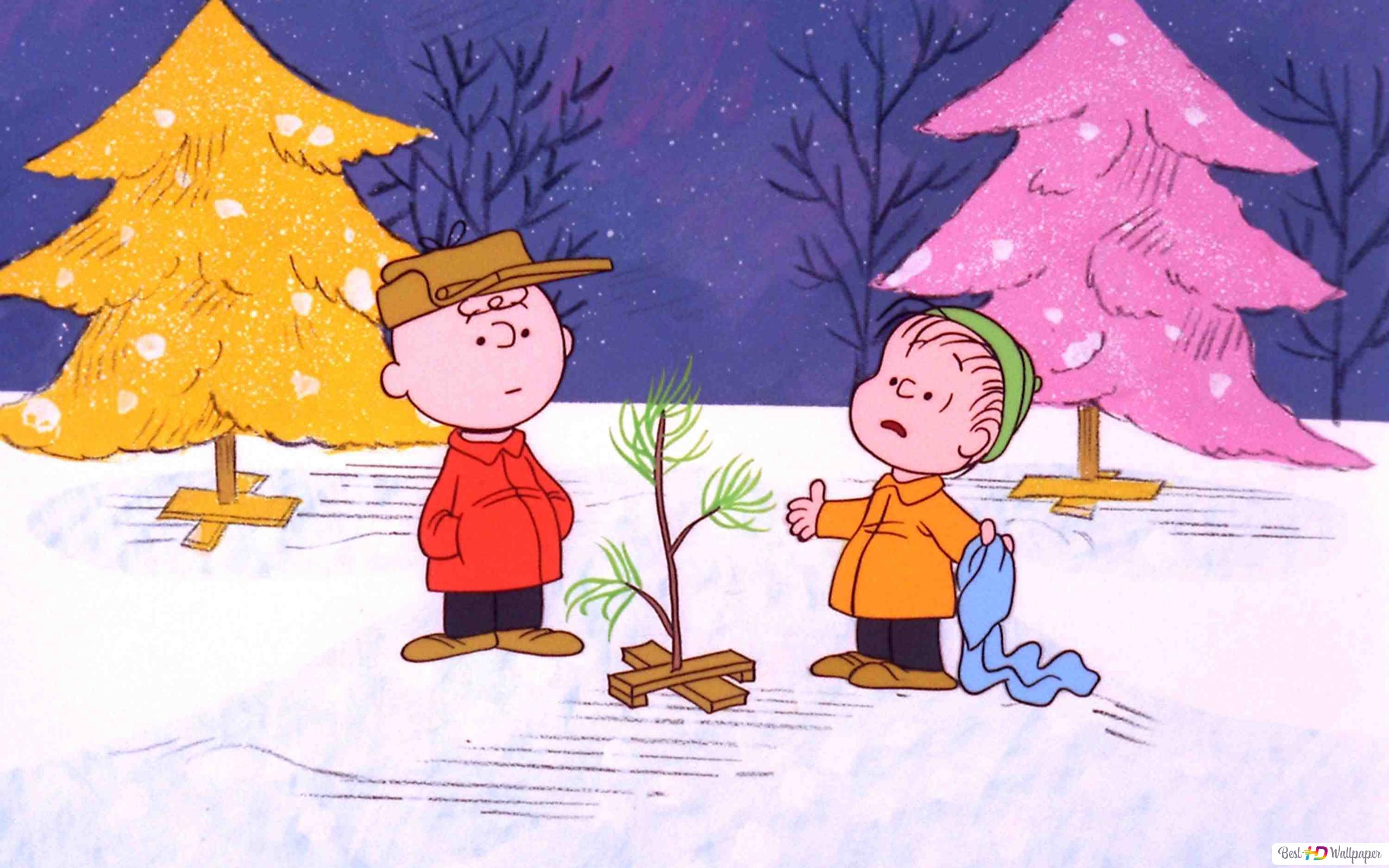 Charlie Brown and tree HD wallpaper