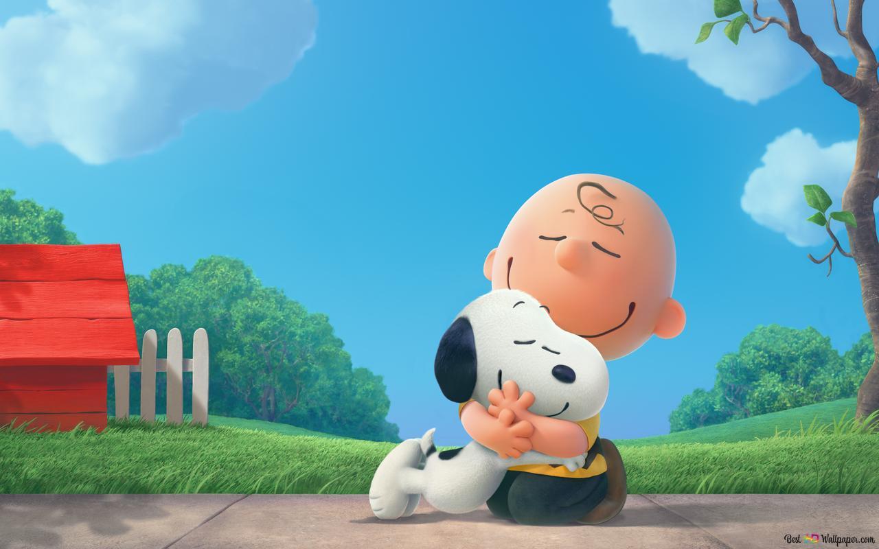 Charlie Brown Hugs Snoopy Hd Wallpaper Download