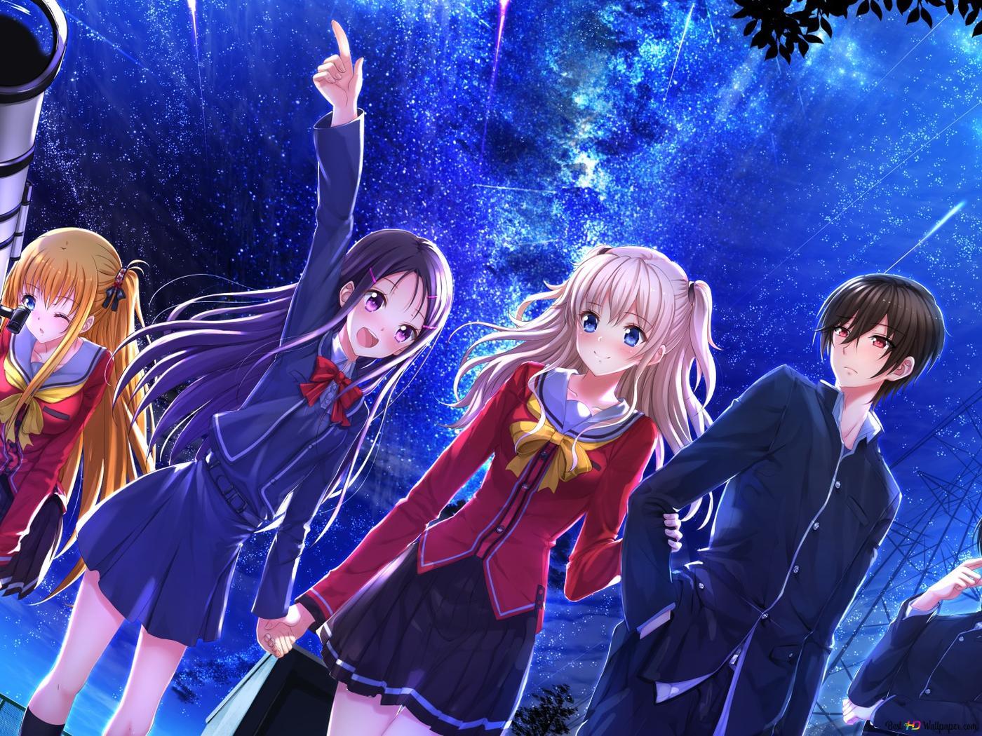 Charlotte Anime Hd Wallpaper Download