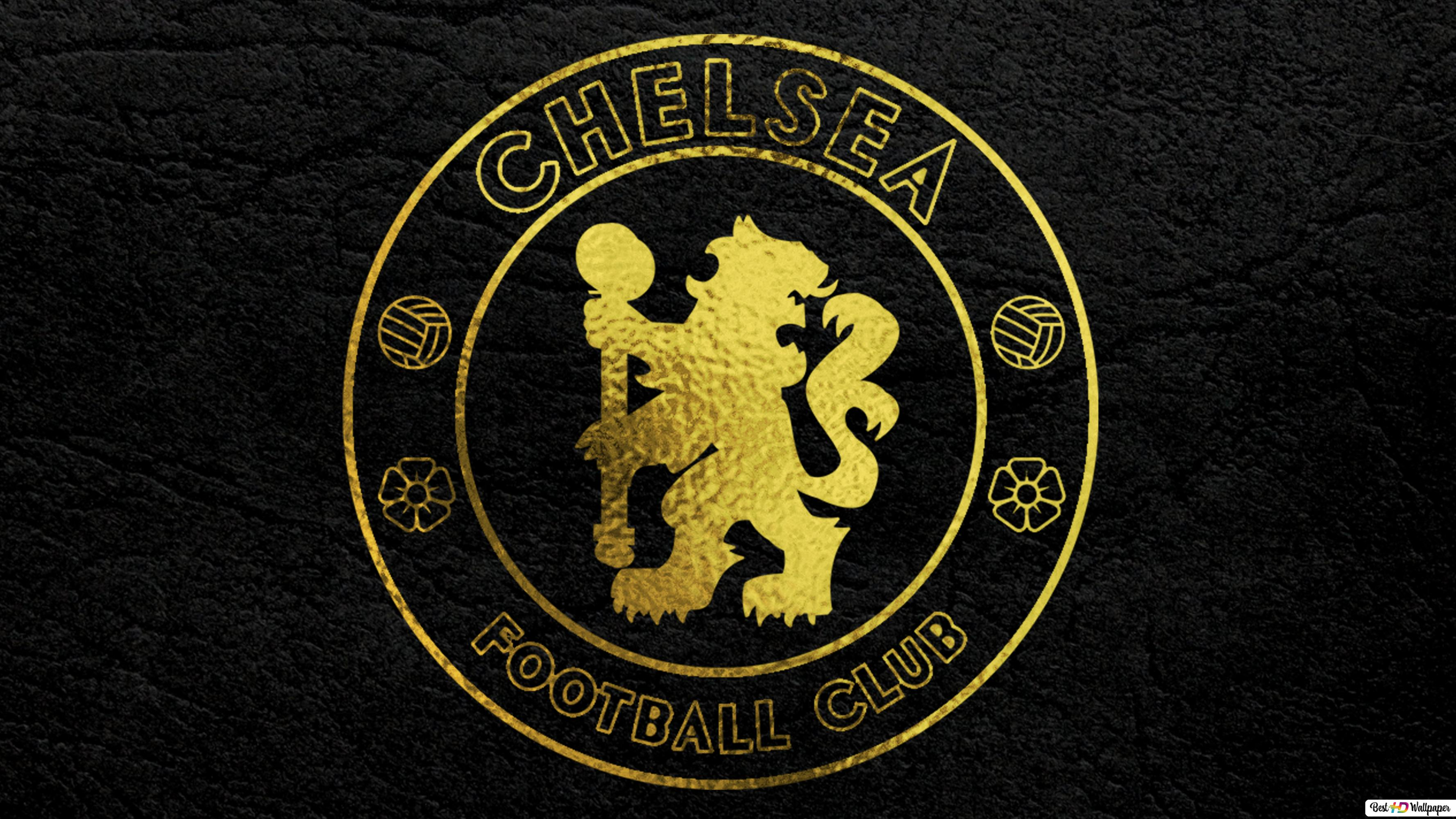 Chelsea Gold Effect HD Wallpaper