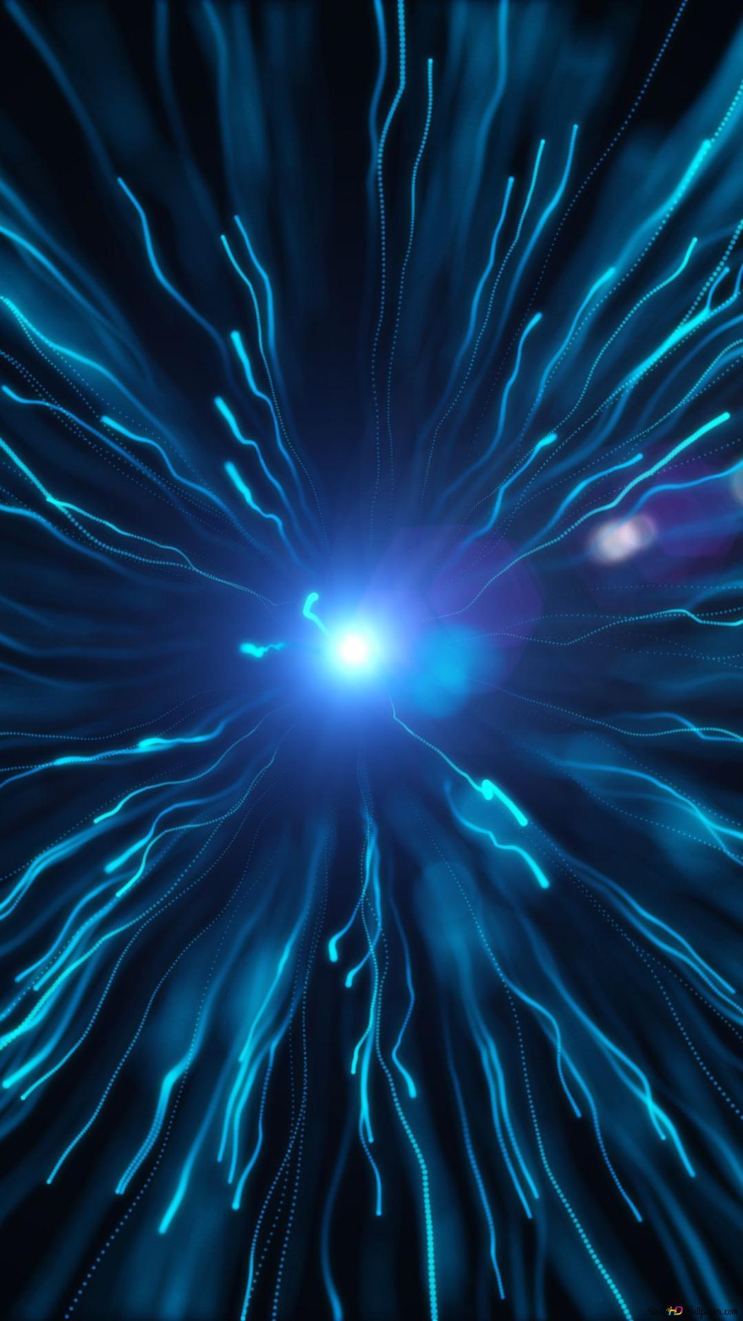 抽象ブルー粒子 Hd壁紙のダウンロード