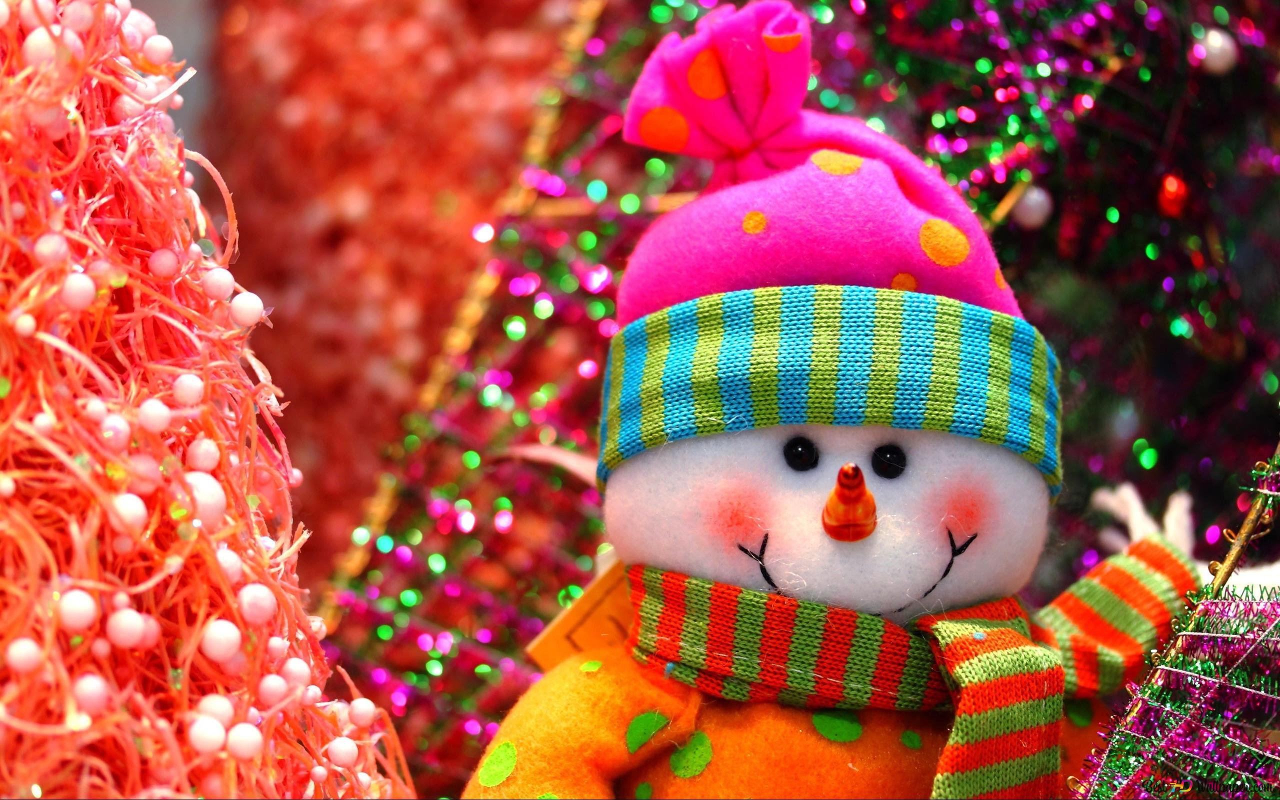 Christmas Cute Snowman Hd Wallpaper Download