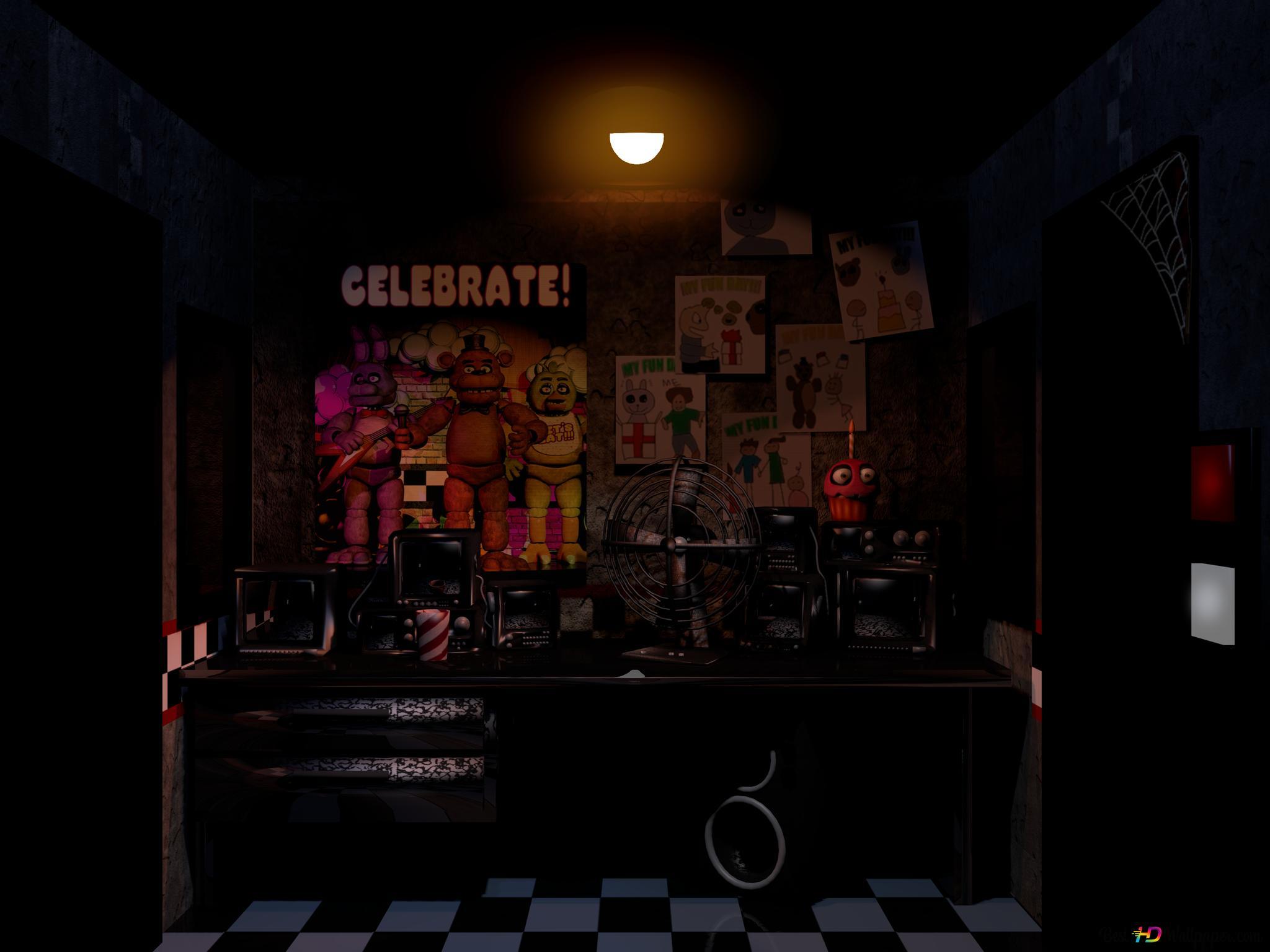 Descargar fondo de pantalla Cinco noches en Freddy - el cuarto oscuro HD