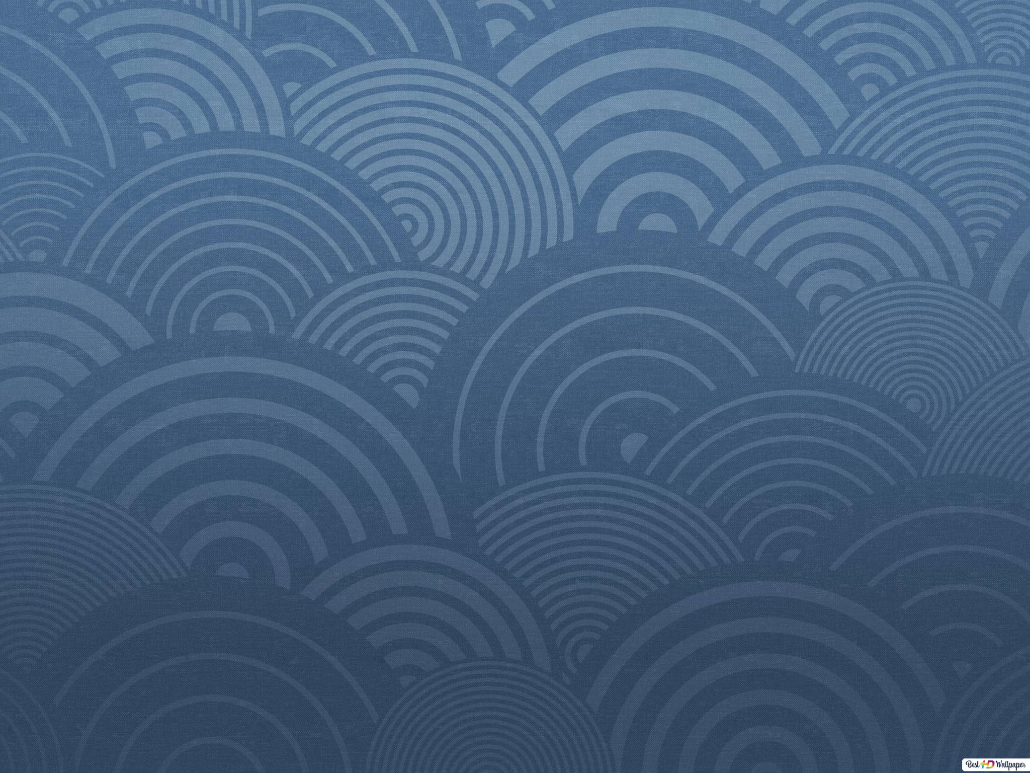 Circular pattern over blue background HD wallpaper download
