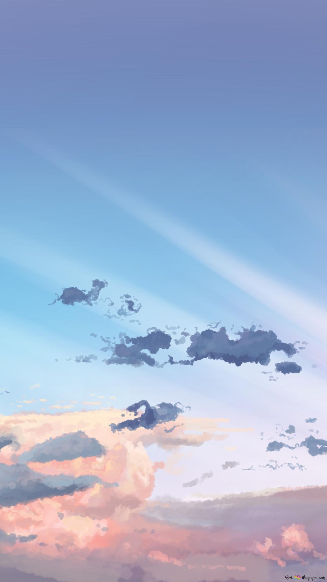 Cloud Blue Sky Anime Hd Wallpaper Download