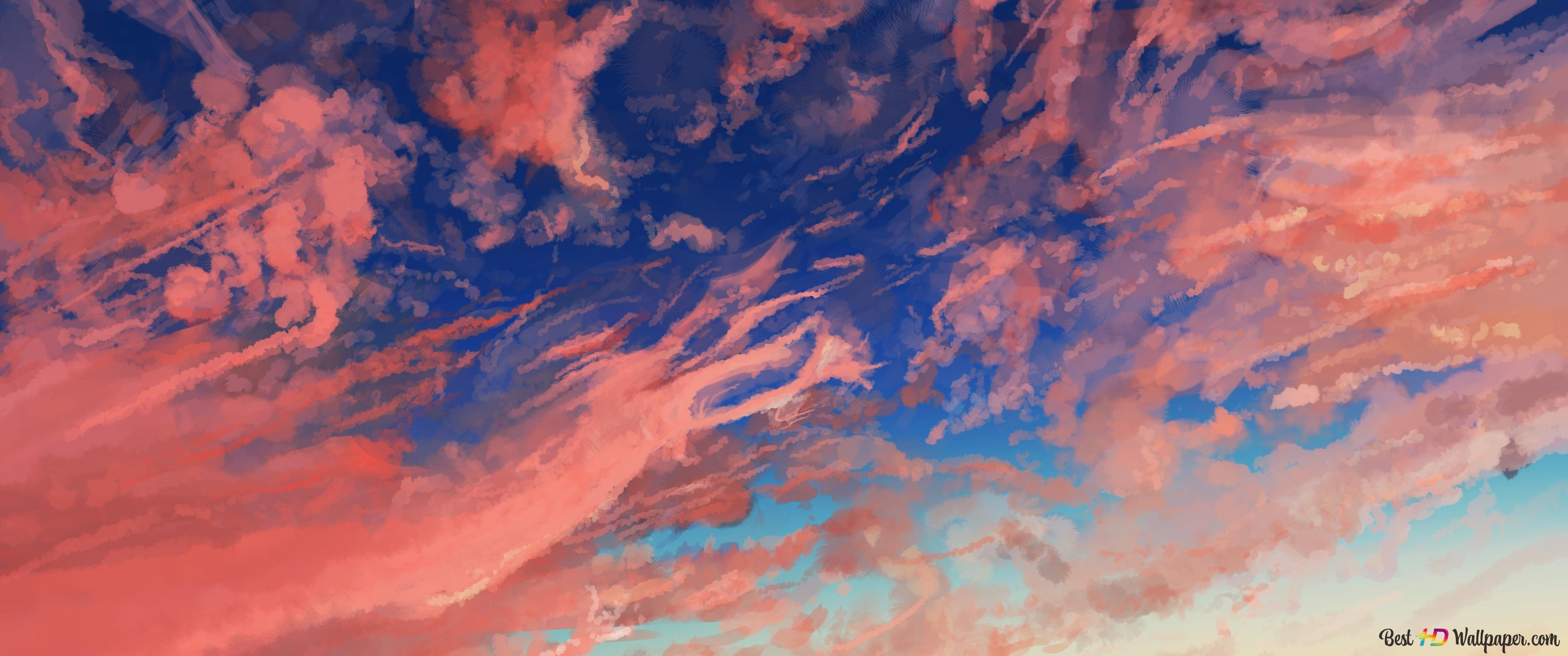 Cloud Sky Anime Hd Wallpaper Download
