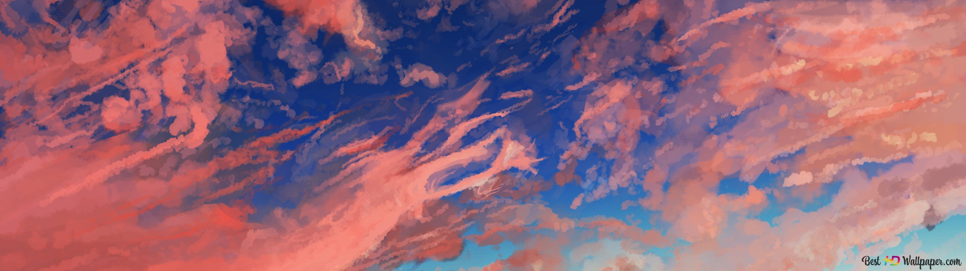 Cloud Sky Anime Unduhan Wallpaper Hd