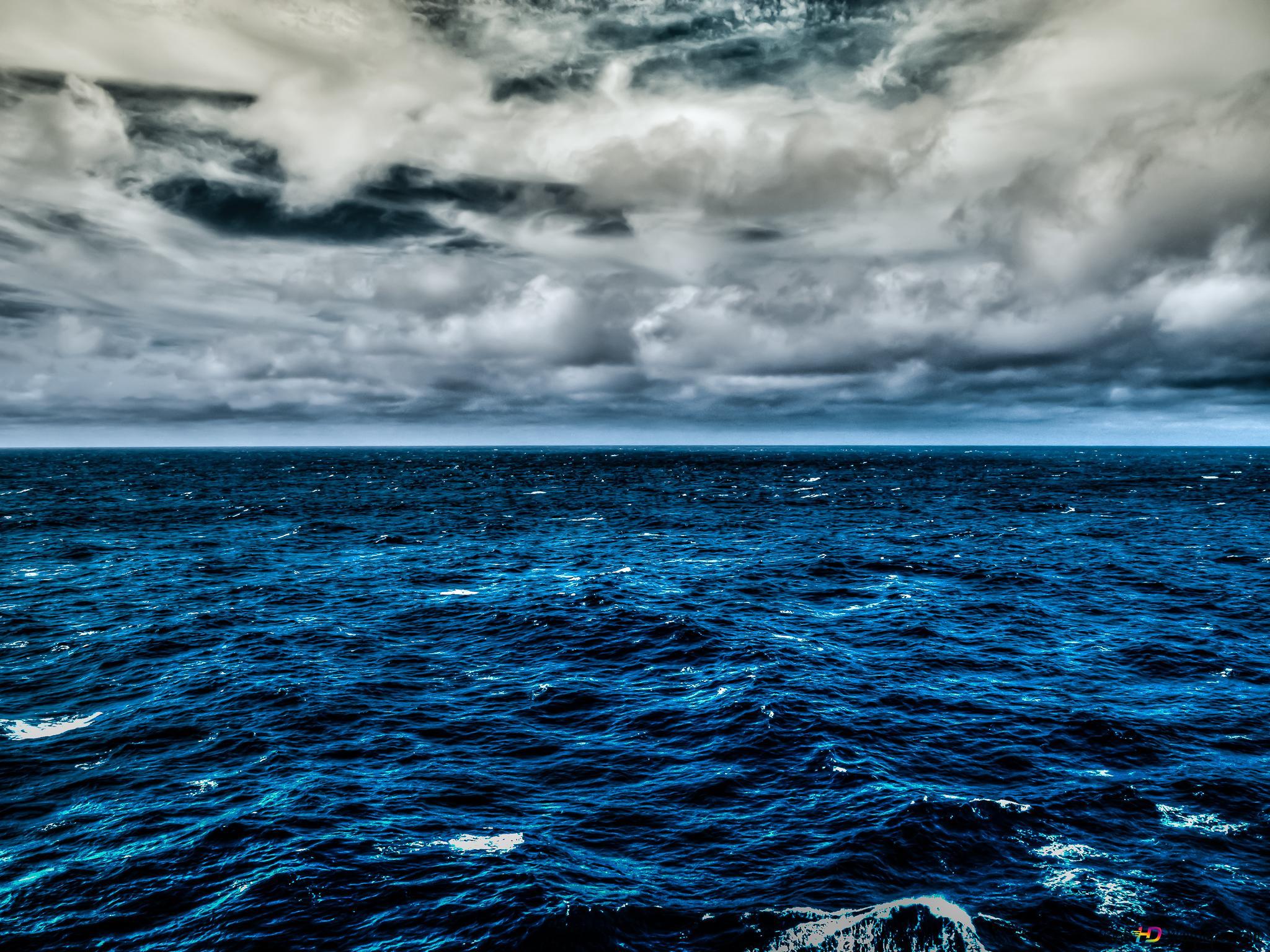 Clouds Over Blue Ocean Hd Wallpaper Download