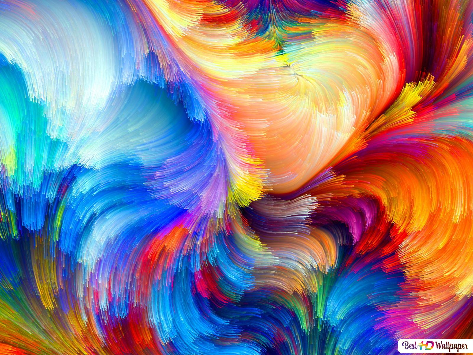 Colorful Abstract Brush Strokes Hd Wallpaper Download