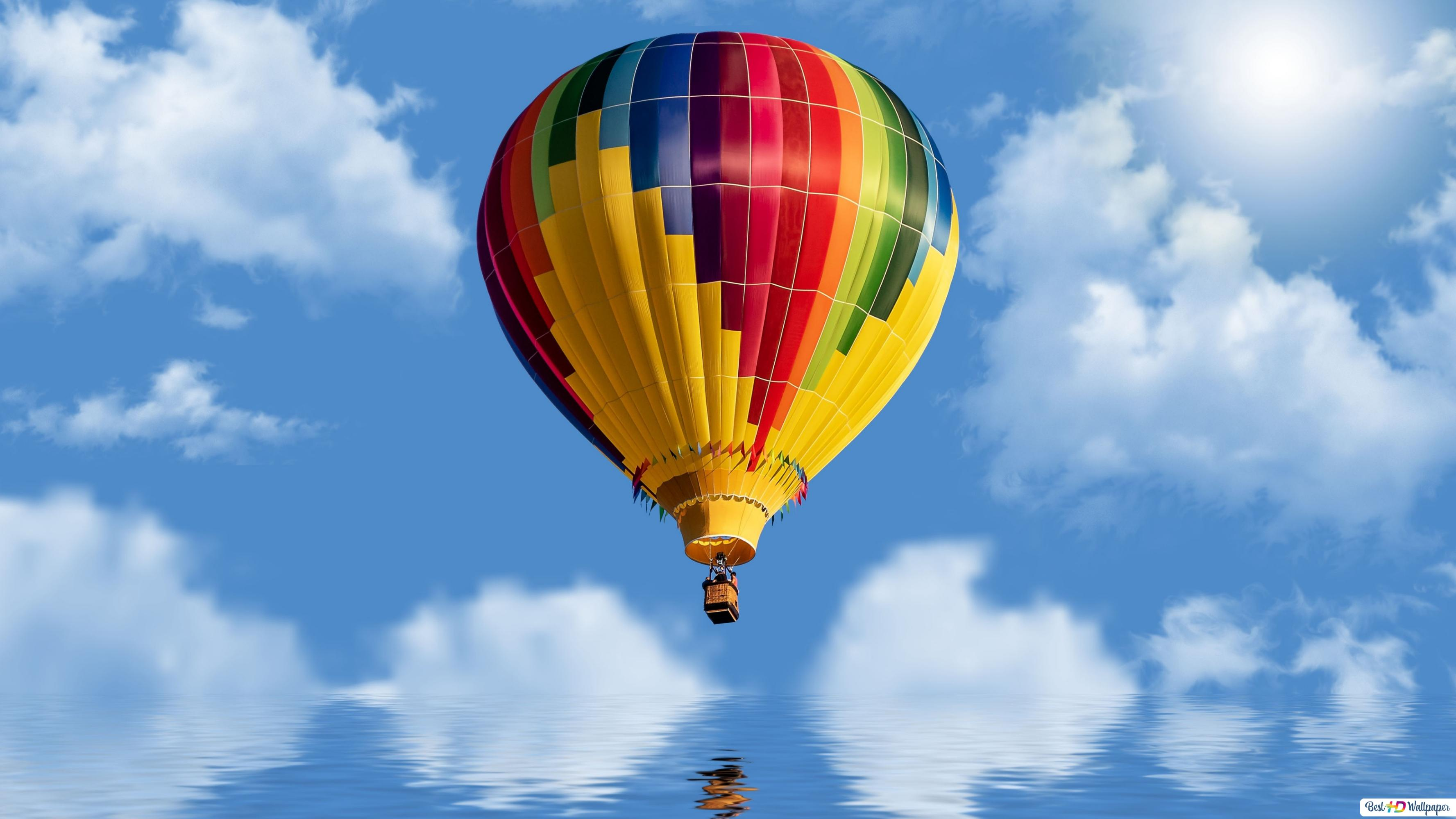 Colorful Hot Air Balloon Hd Wallpaper Download