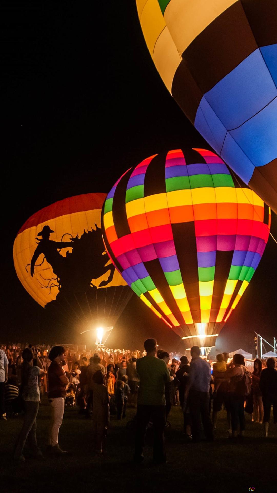 Colourful Hot Air Balloon Hd Wallpaper Download