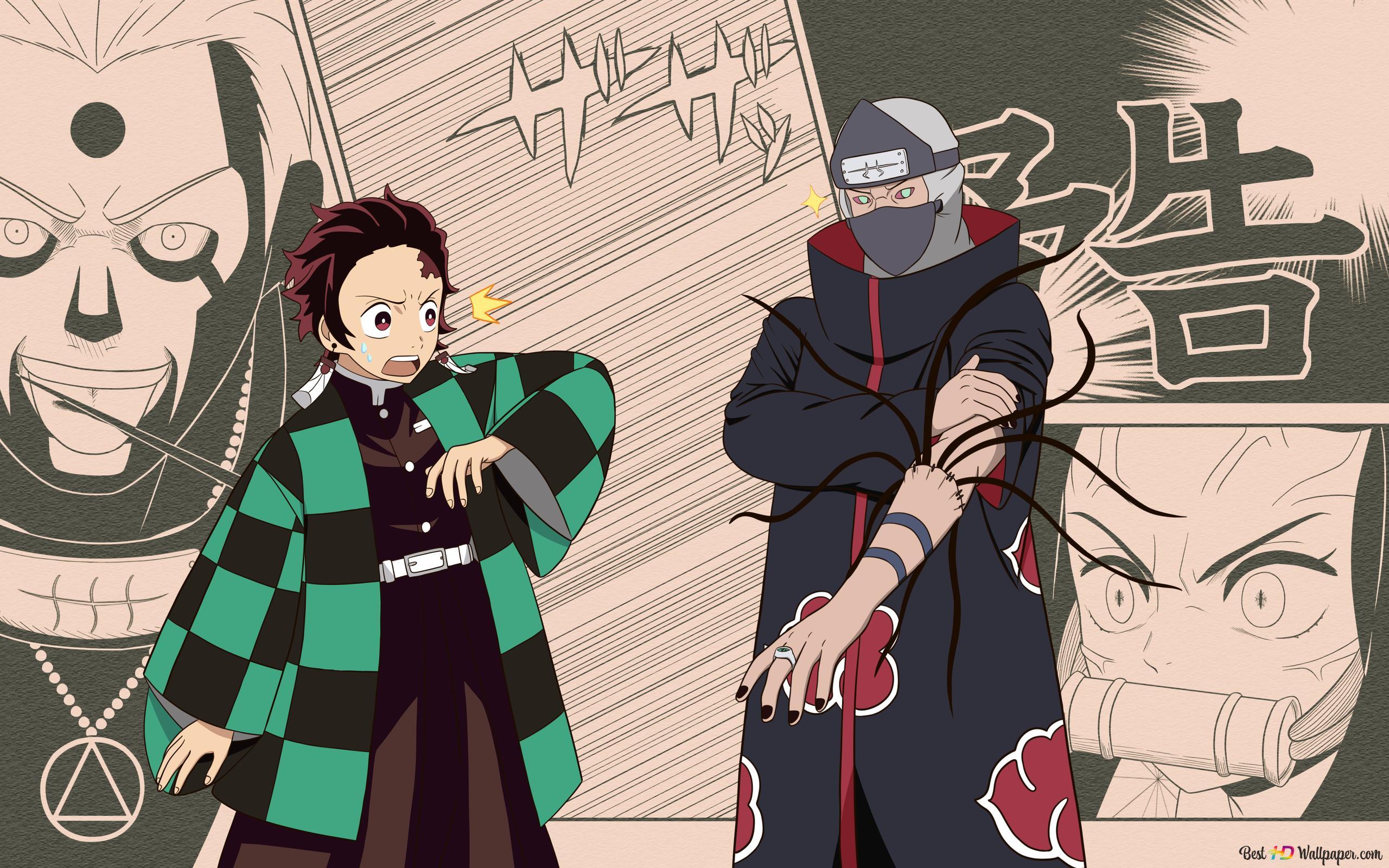 Crossover Naruto And Kimetsu No Yaiba Hd Wallpaper Download #star trek #naruto #star trek tng #naruto crossover #star trek crossover #i have this vague feeling that ive drawn something similar before #specifically naruto riker (william uzumaki?) crossover naruto and kimetsu no yaiba