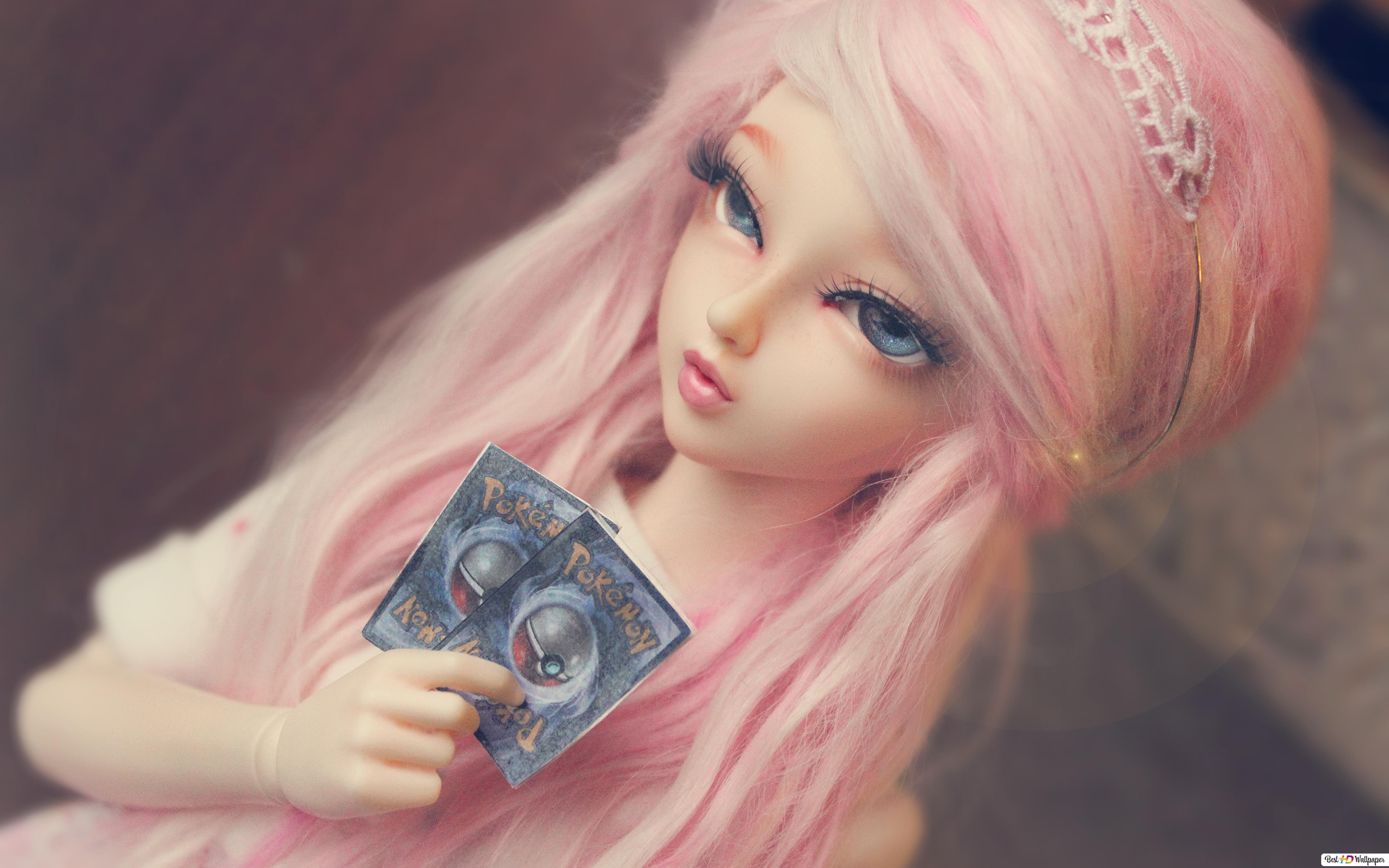 Cute Pink Hair Doll Hd Wallpaper Download