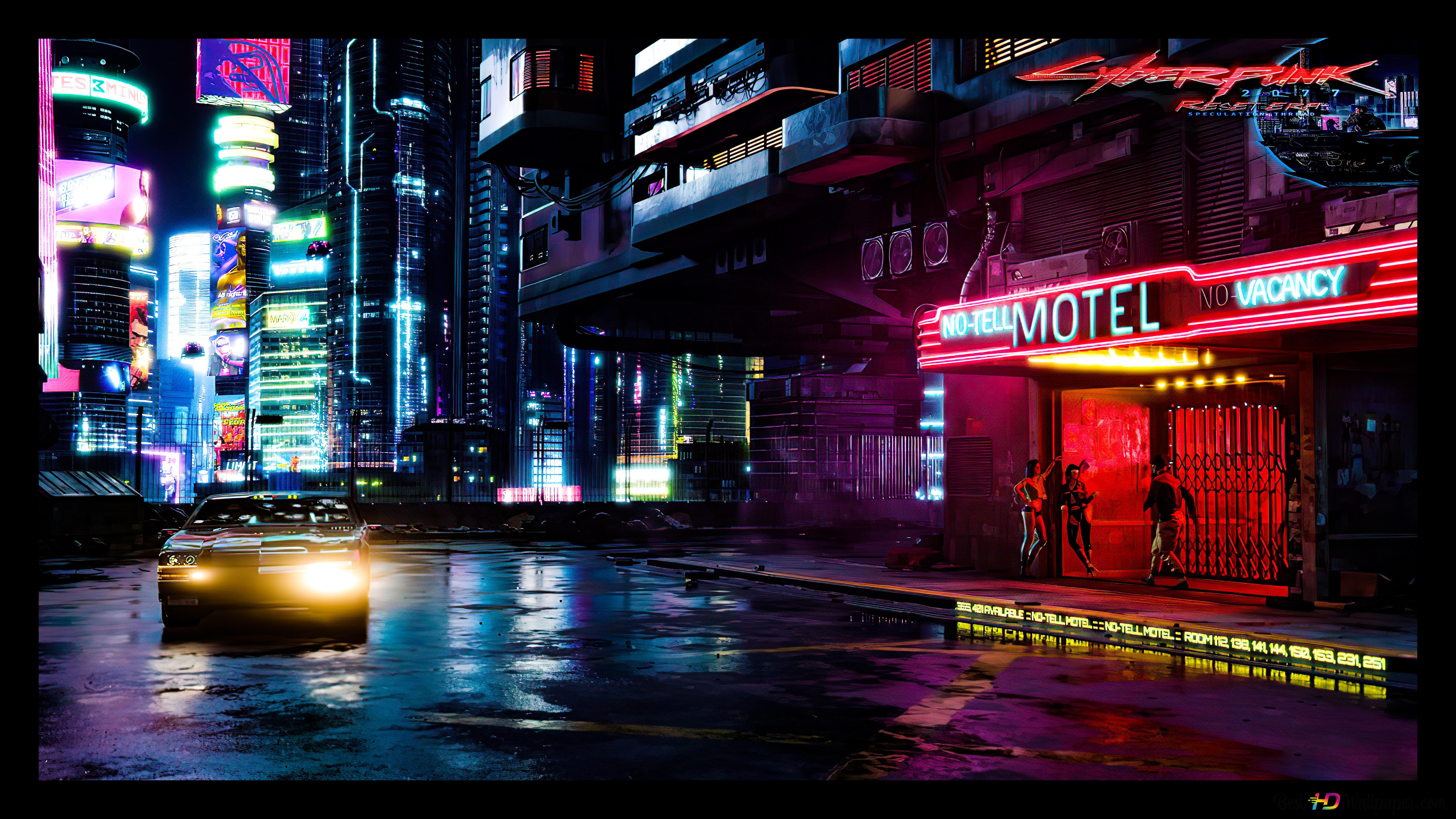 Cyberpunk 2077 City 8k 4k Hd Wallpaper Download
