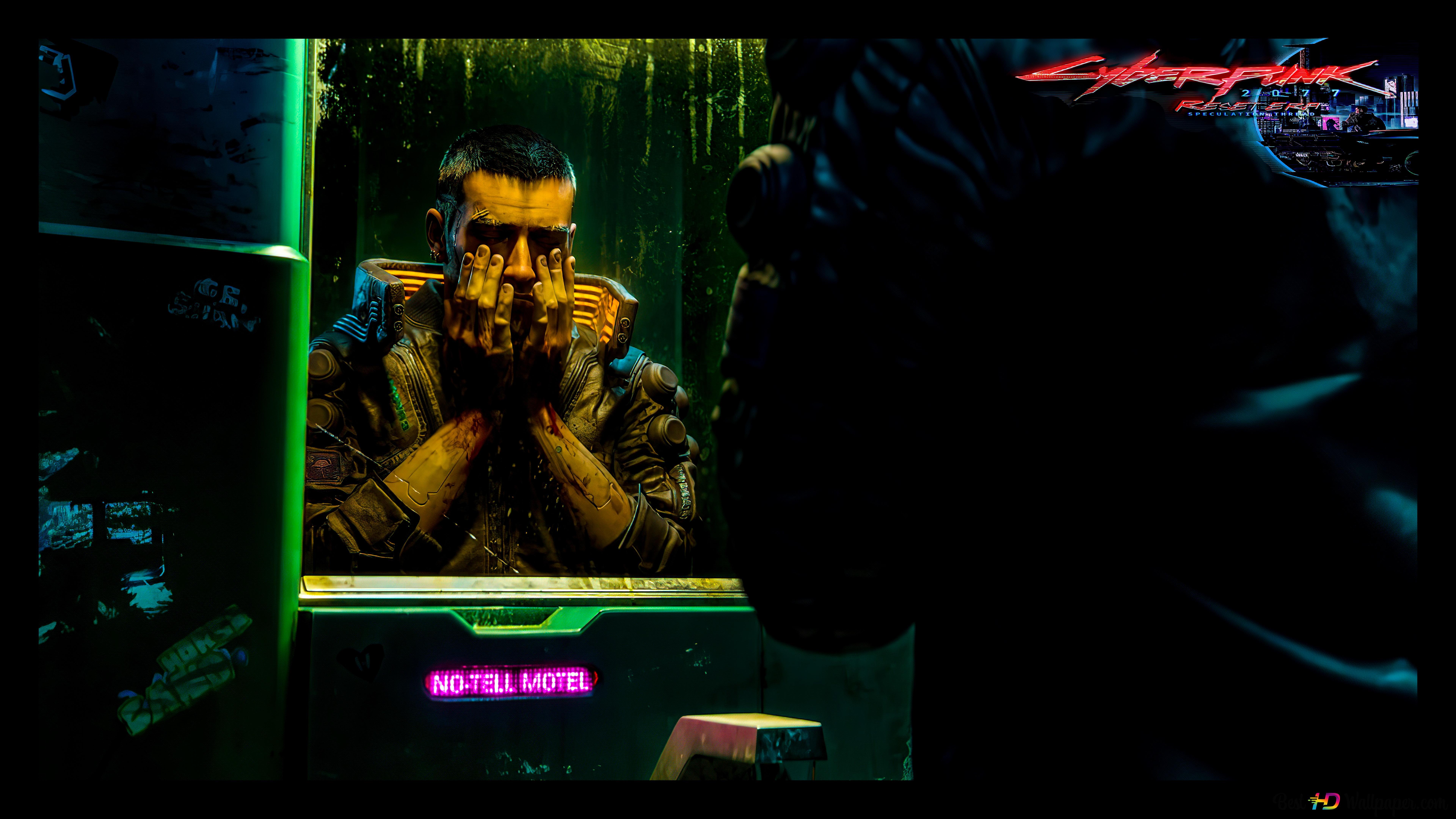Cyberpunk 2077 Samurai Washing Face 8k 4k Hd Wallpaper Download