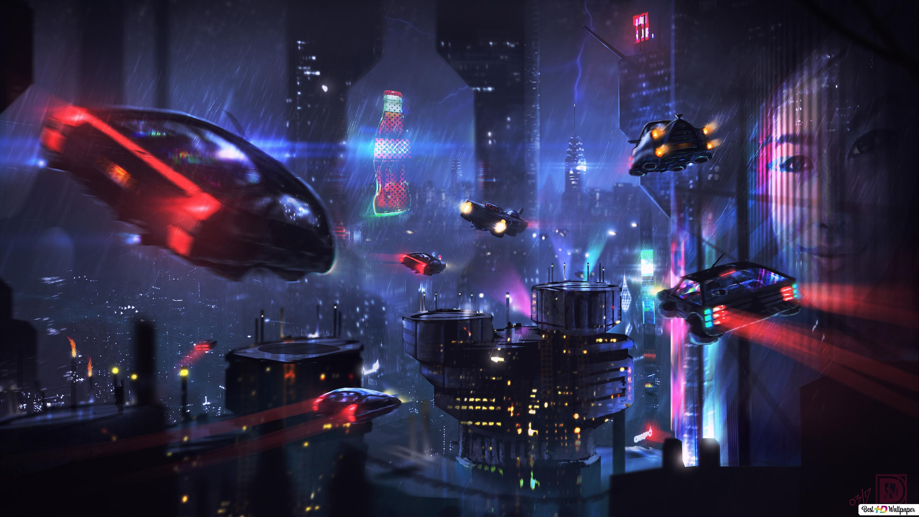Cyberpunk City Hd Wallpaper Download