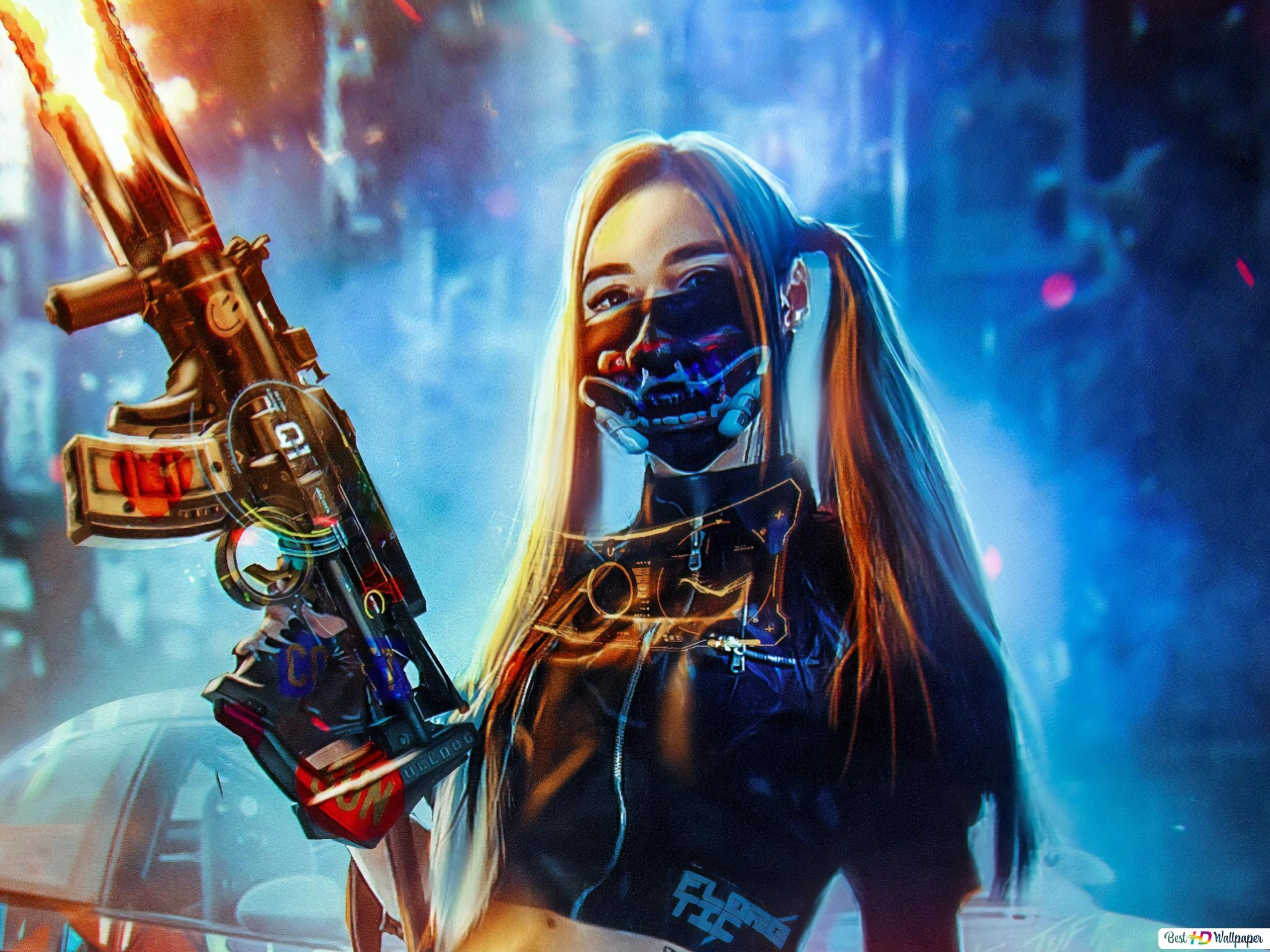 Cyberpunk Girl Hd Wallpaper Download