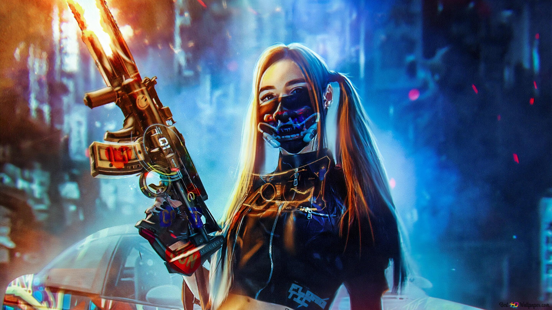 Cyberpunk girl HD wallpaper download