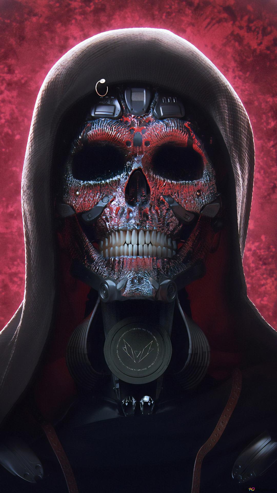 Cyborg Skull Hd Wallpaper Download