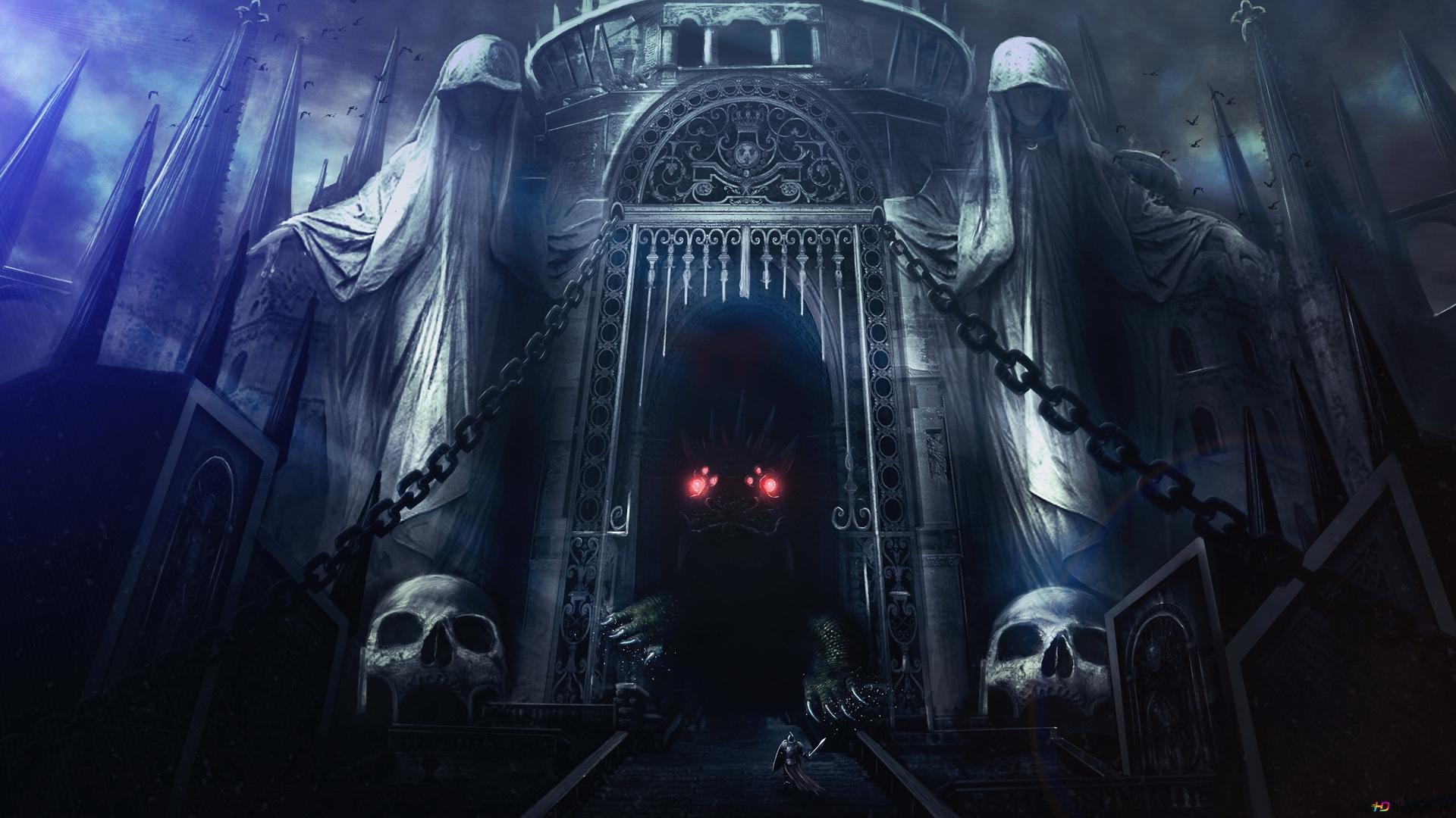 Dark Souls 2 Game Monster In The Dark Castle Hd Wallpaper Download
