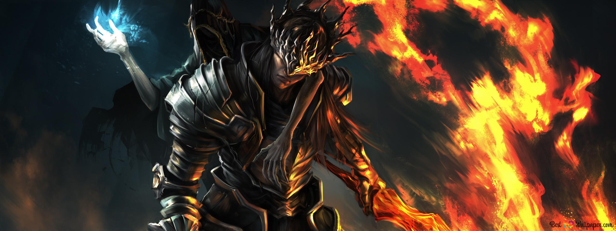 Dark Souls 3 Game Twin Prince Lorian And Lothric Hd Wallpaper