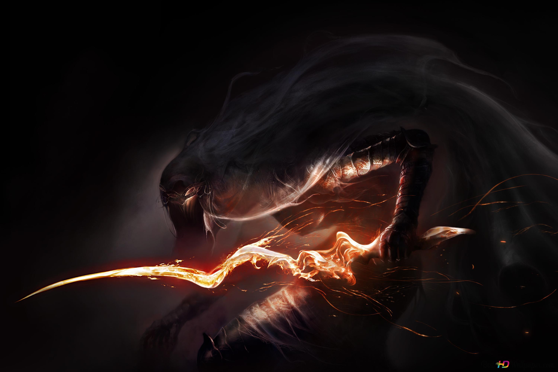 Dark Souls Spiel Evil Monster Mit Der Waffe Hd