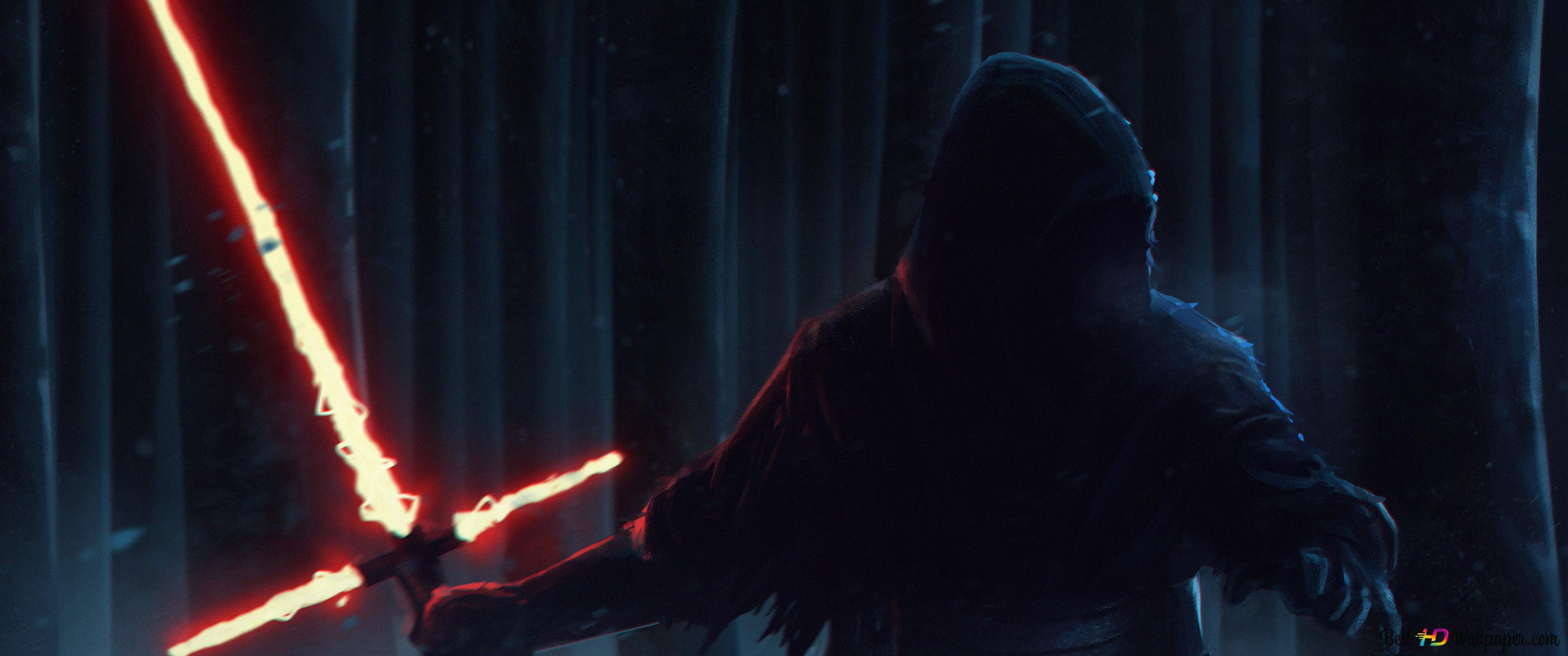 Dark Warrior Kylo Ren Star Wars Episode Vii The Force Awakens