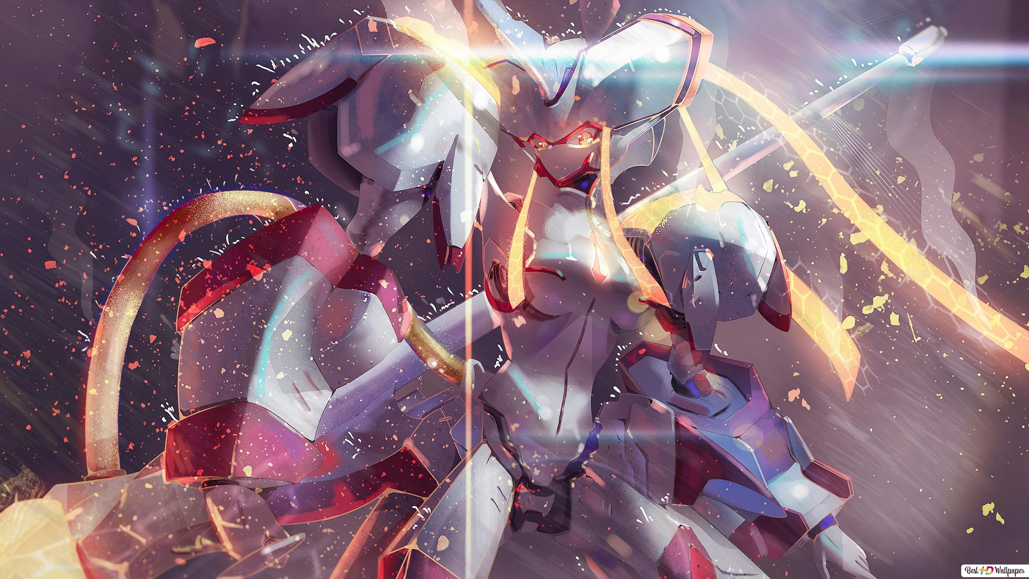 Darling In The Franxx Strelizia Mecha Robot Hd Wallpaper Download