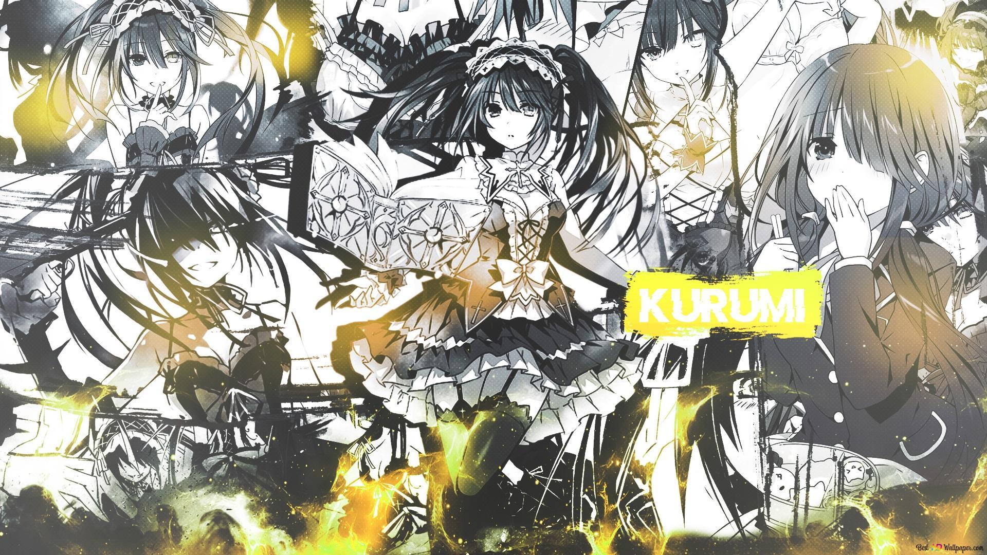 Date A Live Kurumi Tokisaki Manga Ver Hd Wallpaper Download