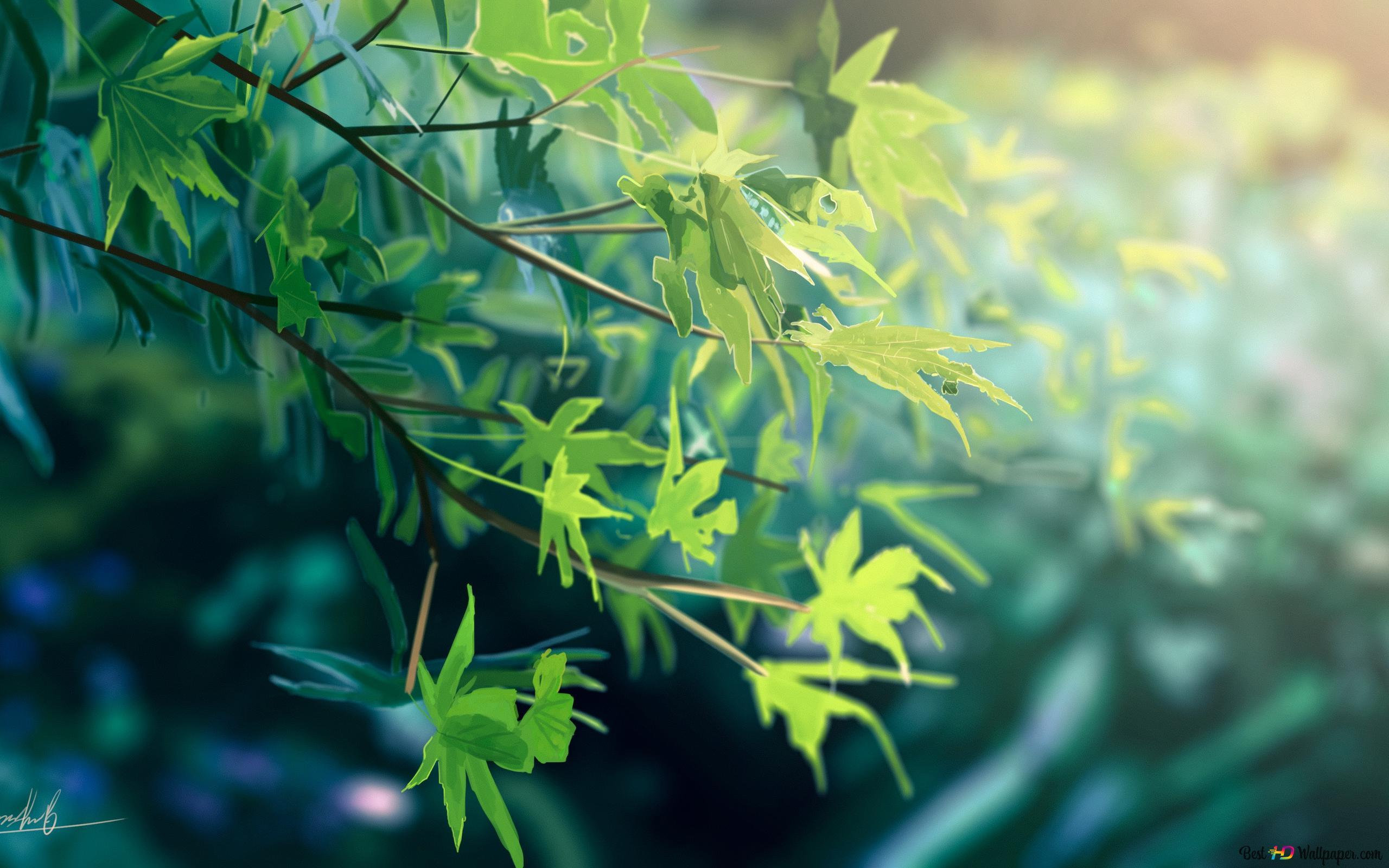 daun daun hijau wallpaper 2560x1600 33904 7