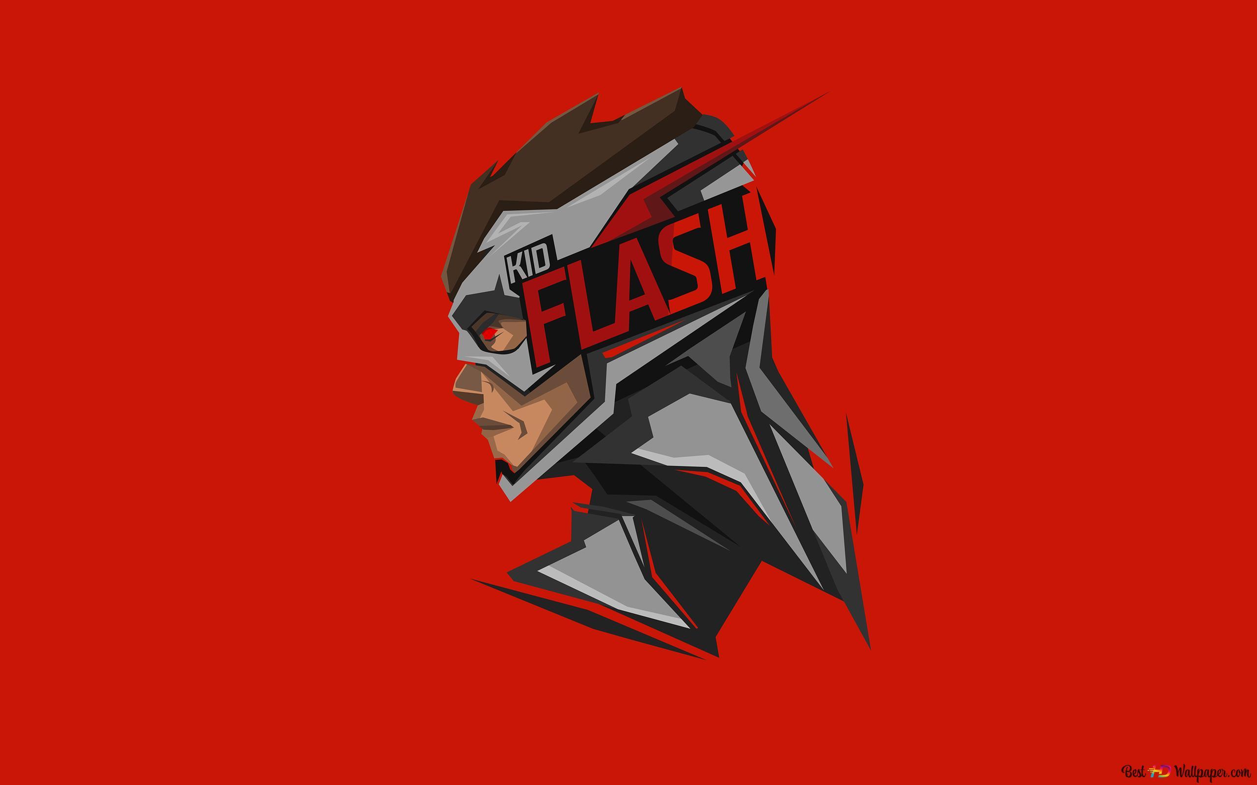 Dc Comics Kid Flash Minimalist Red Wallpaper Background Hd Wallpaper Download