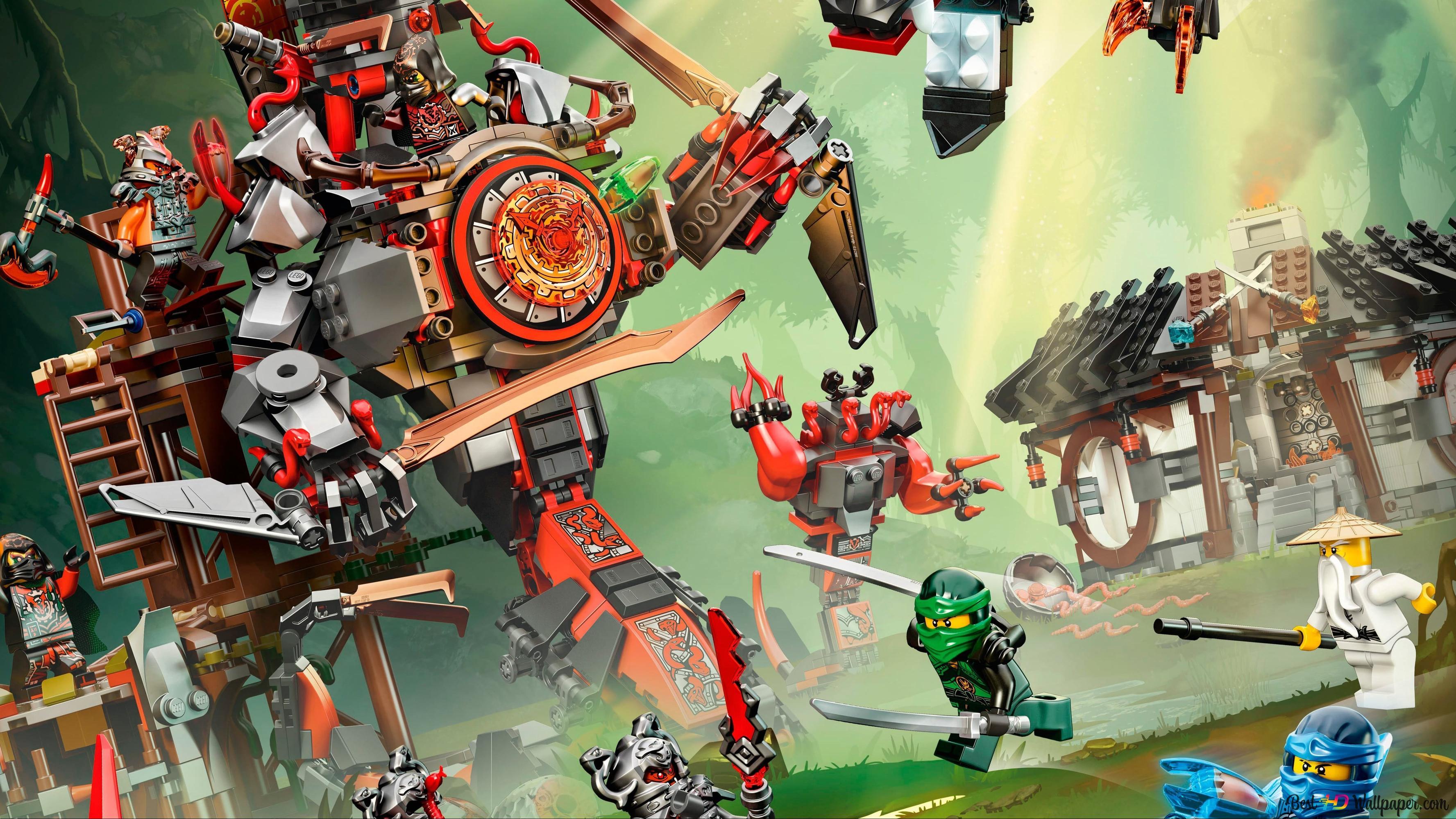 Populair De LEGO Ninjago - Battle HD wallpaper downloaden AU21