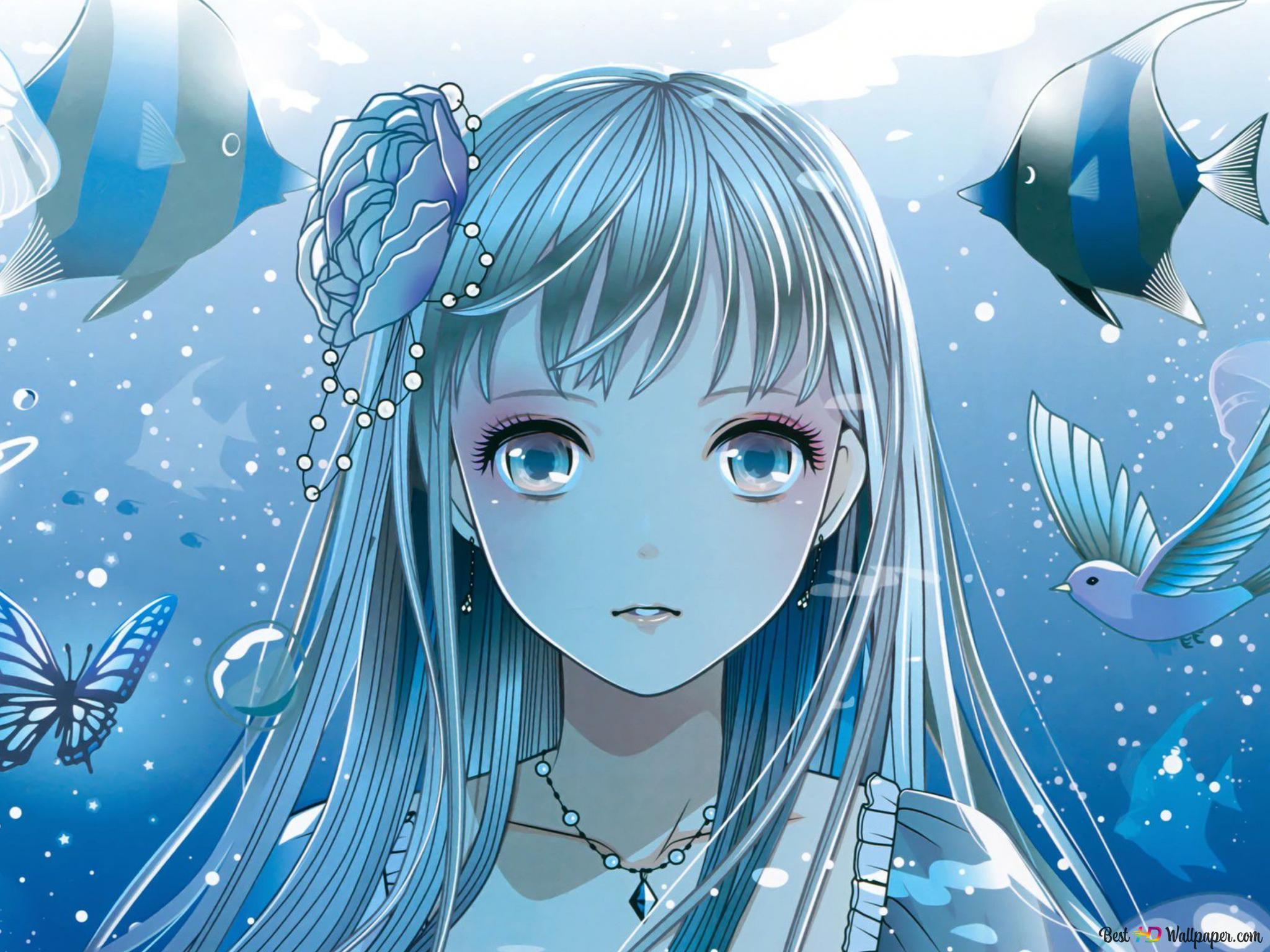 De olhos azuis anime girl HD wallpaper ...