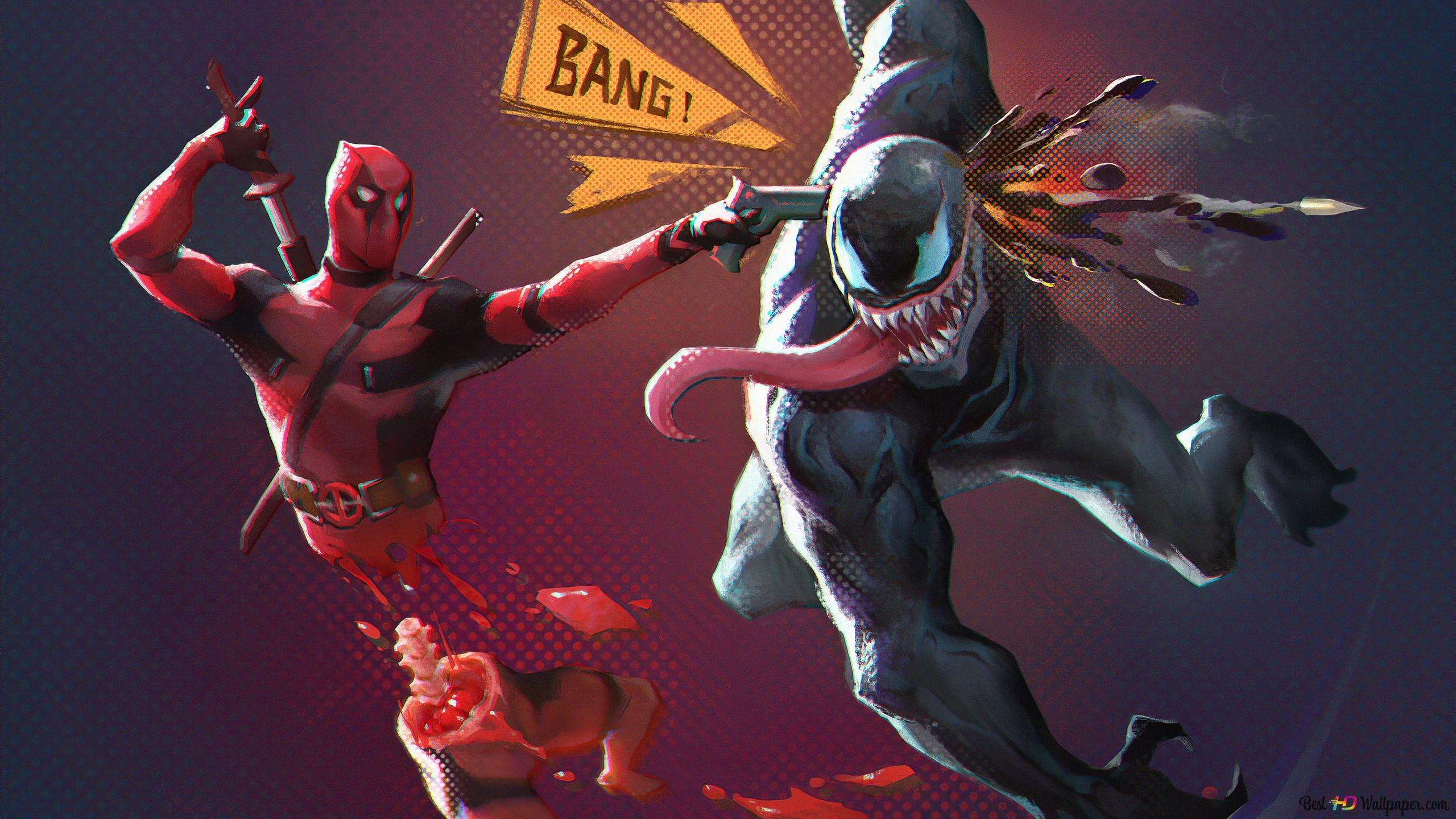 Deadpool And Venom Hd Wallpaper Download