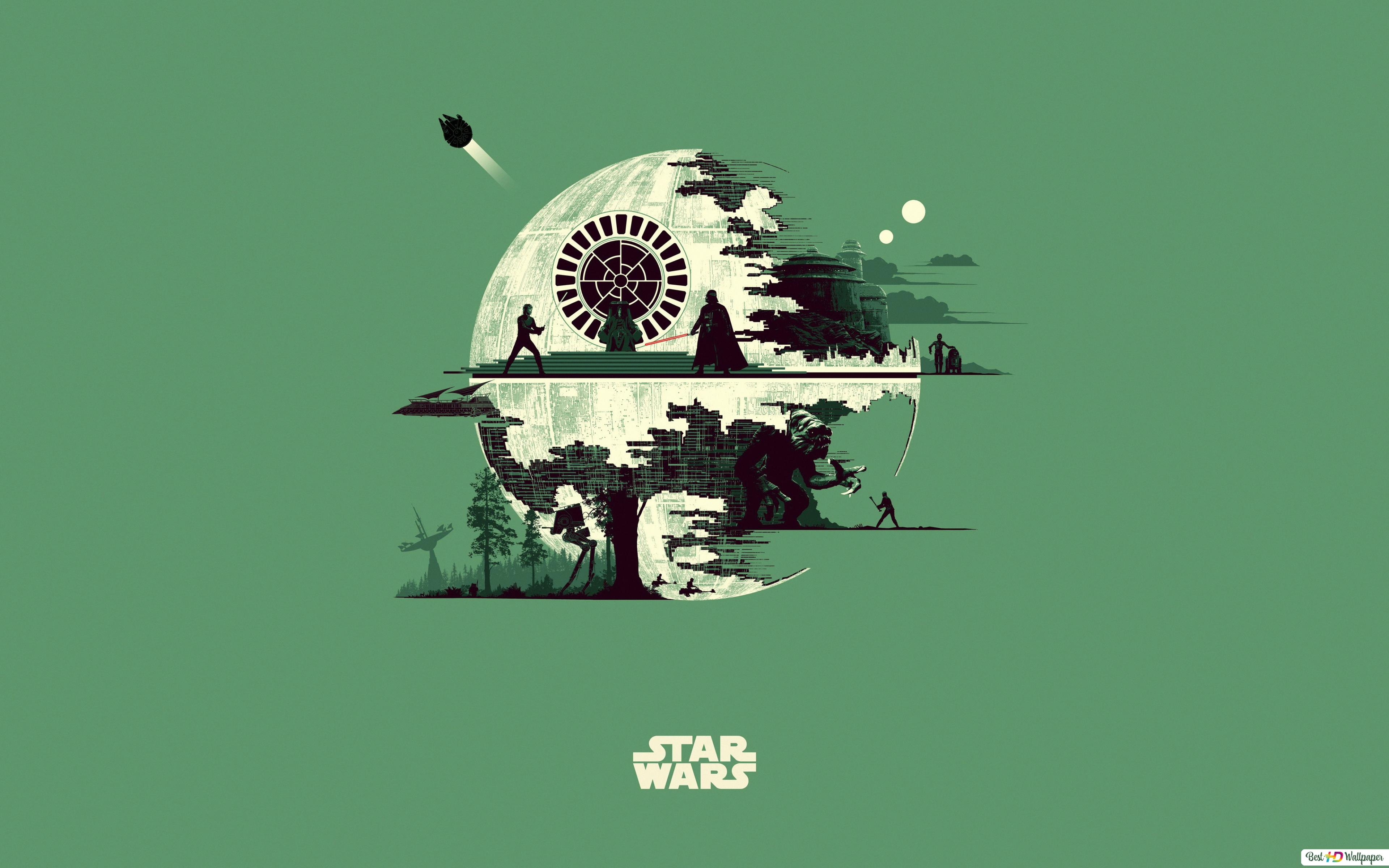 Death Star Star Wars Unduhan Wallpaper Hd