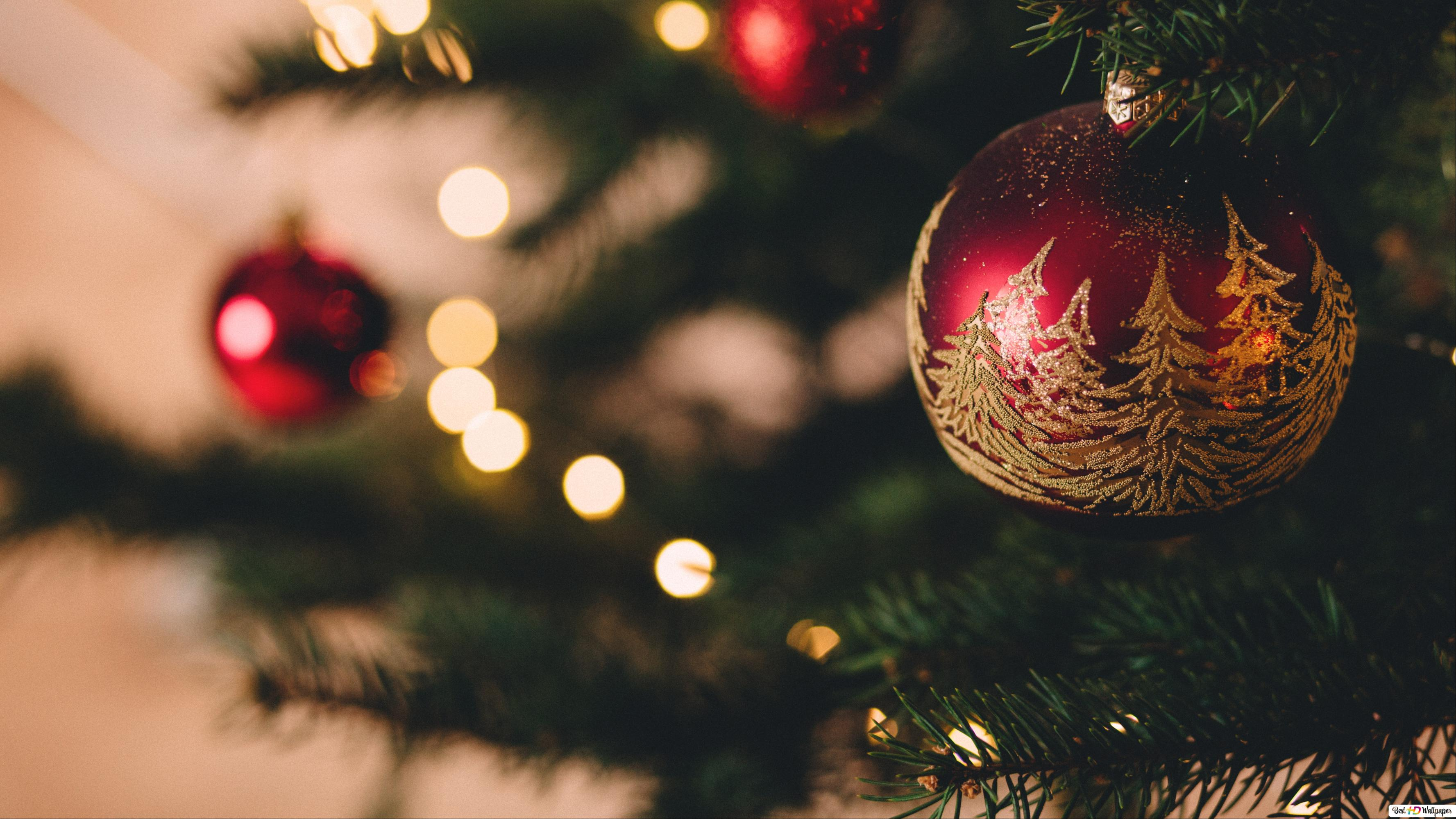 Albero Di Natale Hd.Decorazione Dell Albero Di Natale Download Di Sfondi Hd