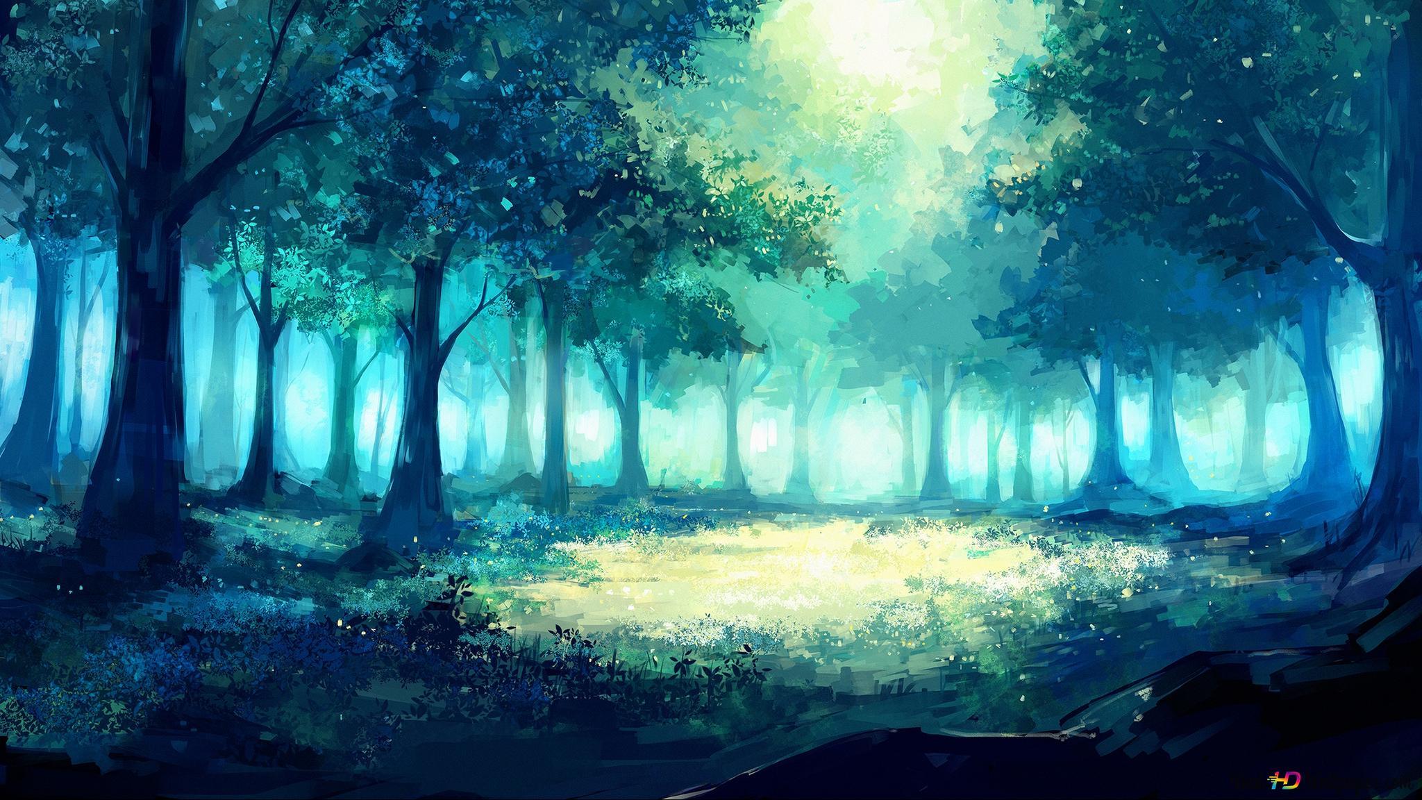 Deep Green Forest Hd Wallpaper Download
