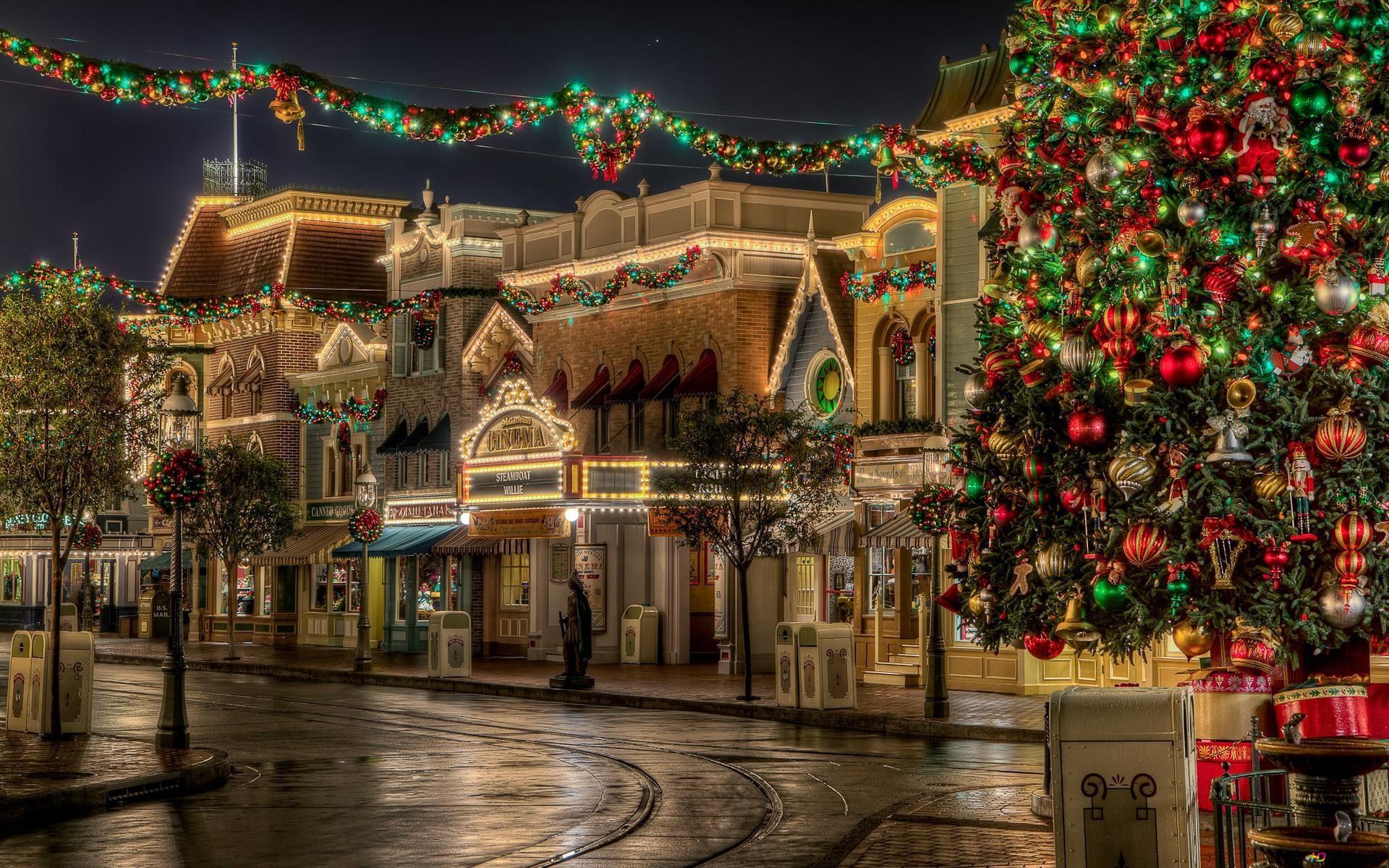 ディズニーランドのクリスマス Hd壁紙のダウンロード
