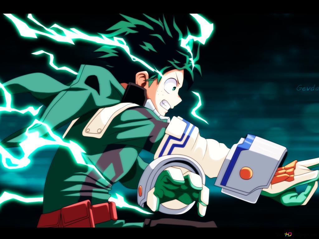 Deku Quirk Lightning Hd Wallpaper Download