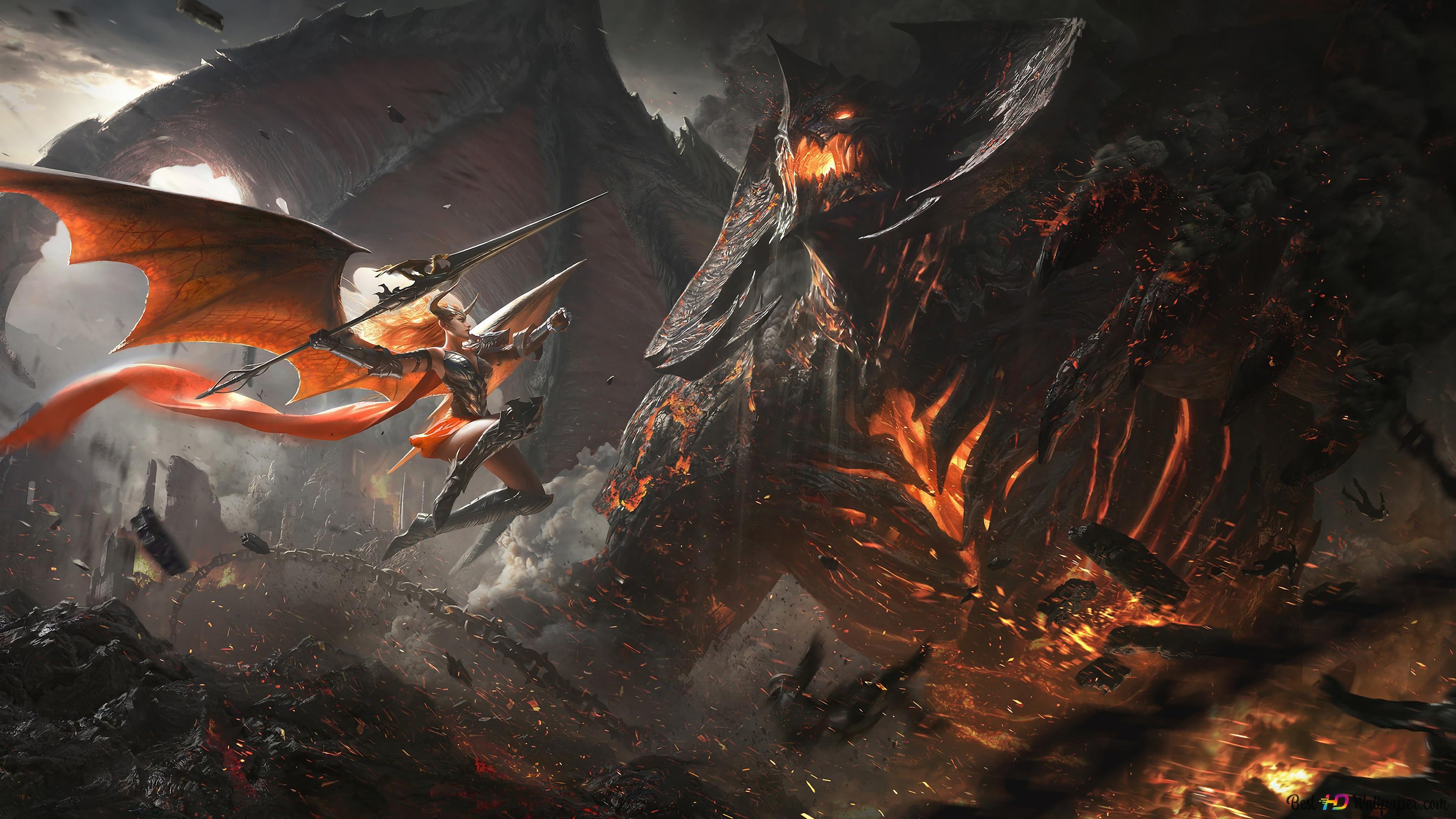 Demon Epic Battle Hd Wallpaper Download