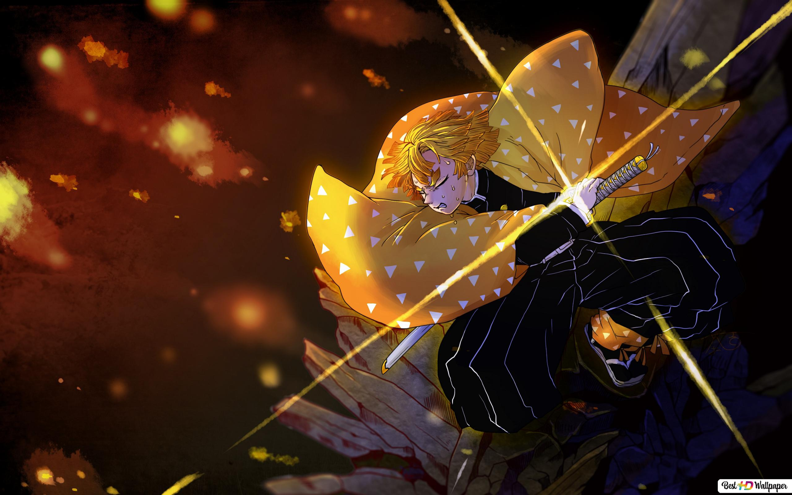 Demon Slayer Kimetsu No Yaiba Agatsuma Zenitsu Hd Wallpaper