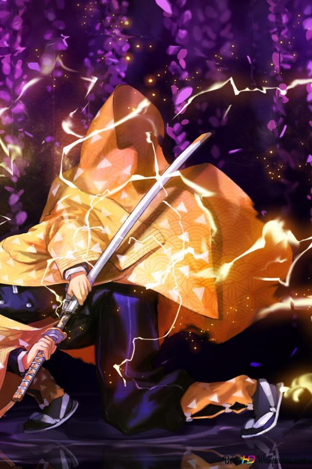 Demon Slayer Zenitsu Agatsuma Hd Wallpaper Download